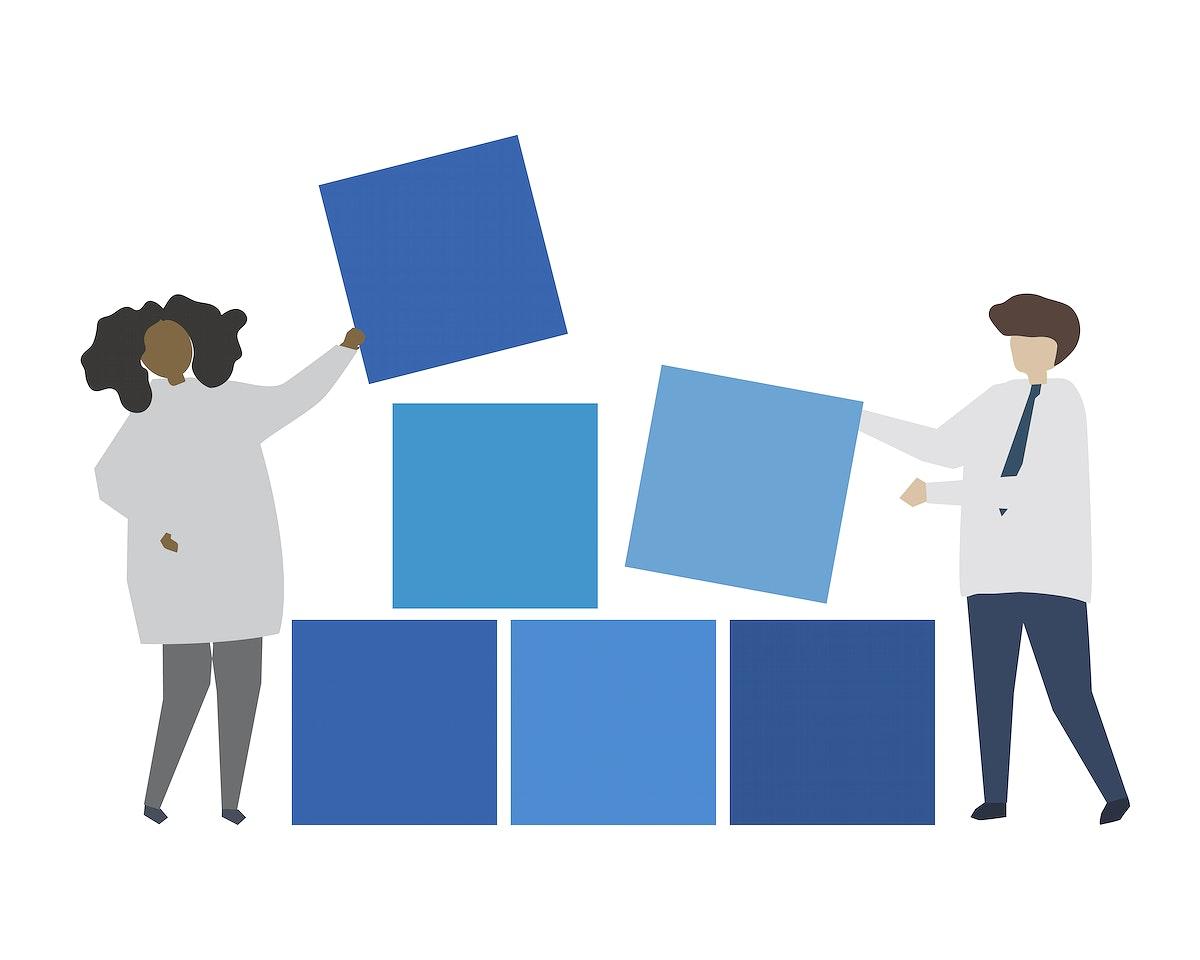 Business data management concept illustration