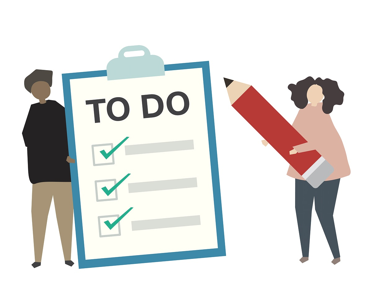 People with to do checklist illustration