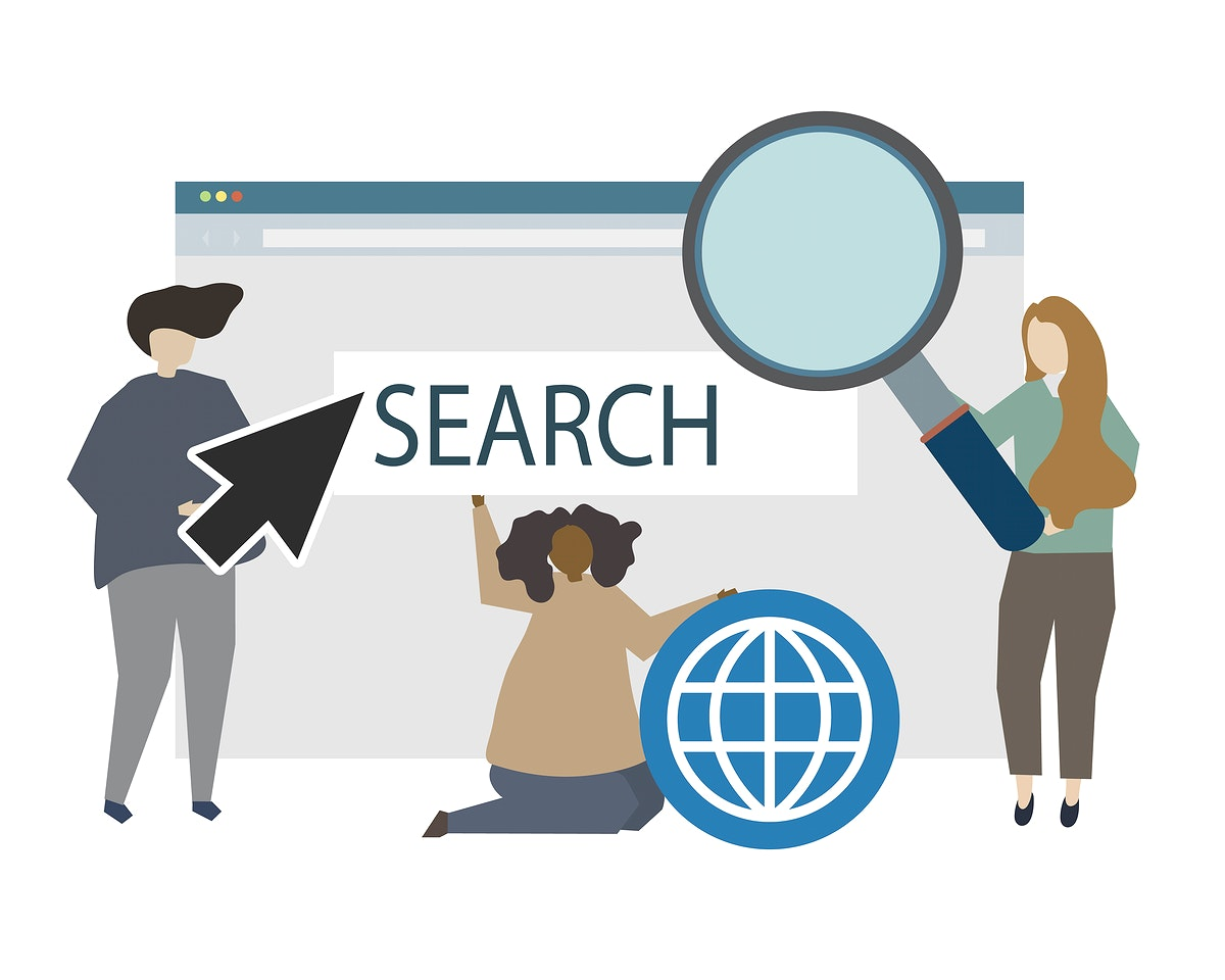Searching system and internet illustration