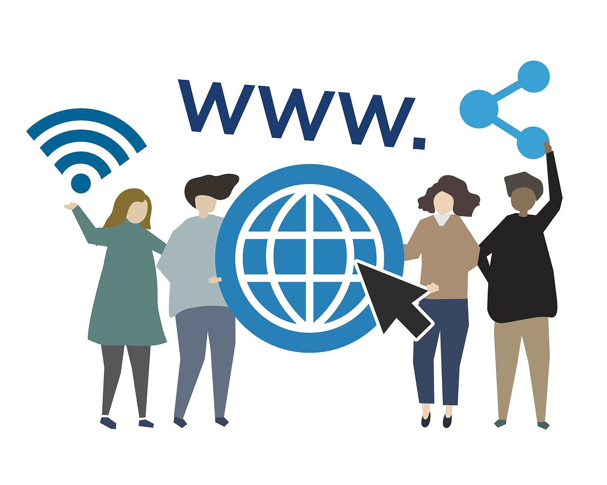 Internet worldwide web concept illustration