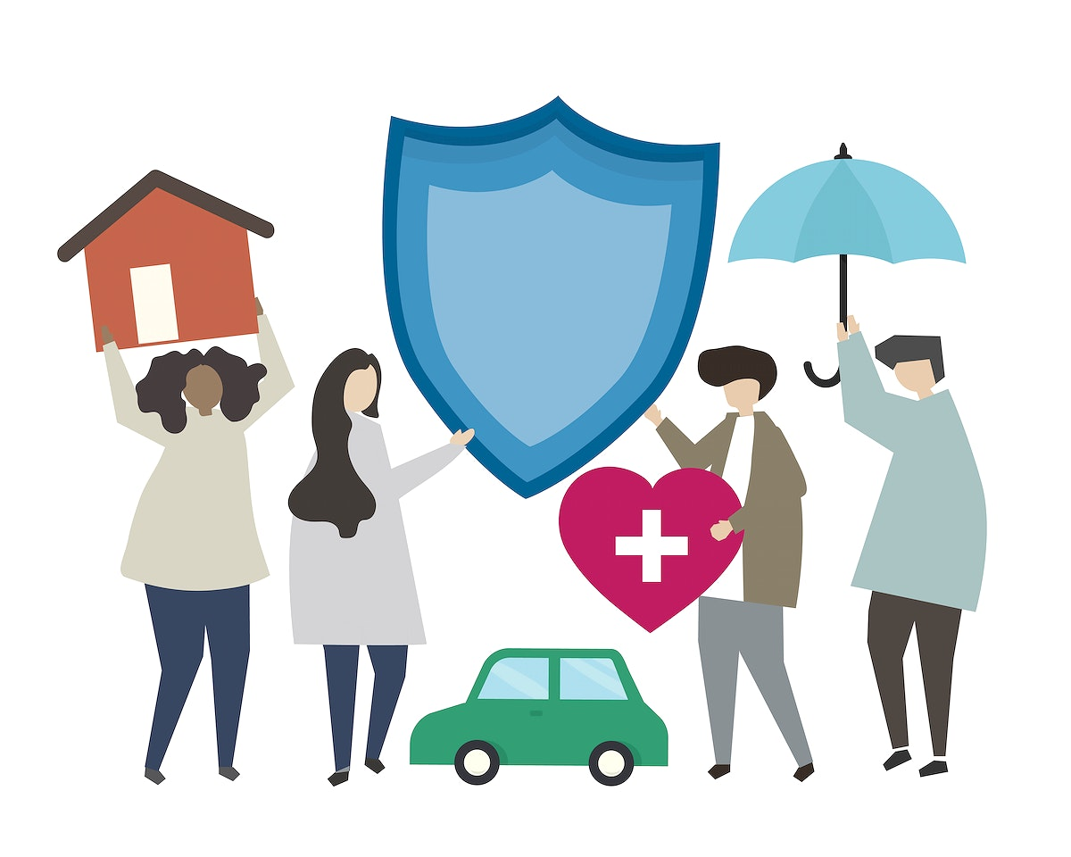 Insurance and protection concept illustration