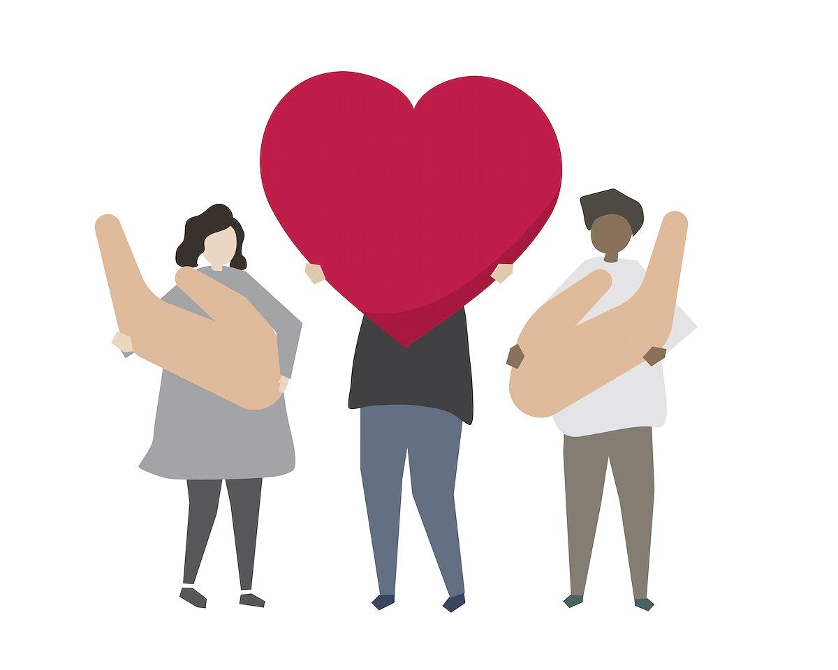 Donation and volunteering community service illustration