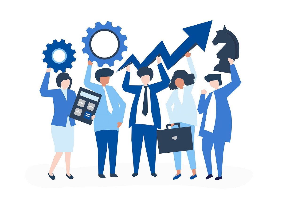 Business growth and strategy concept illustration