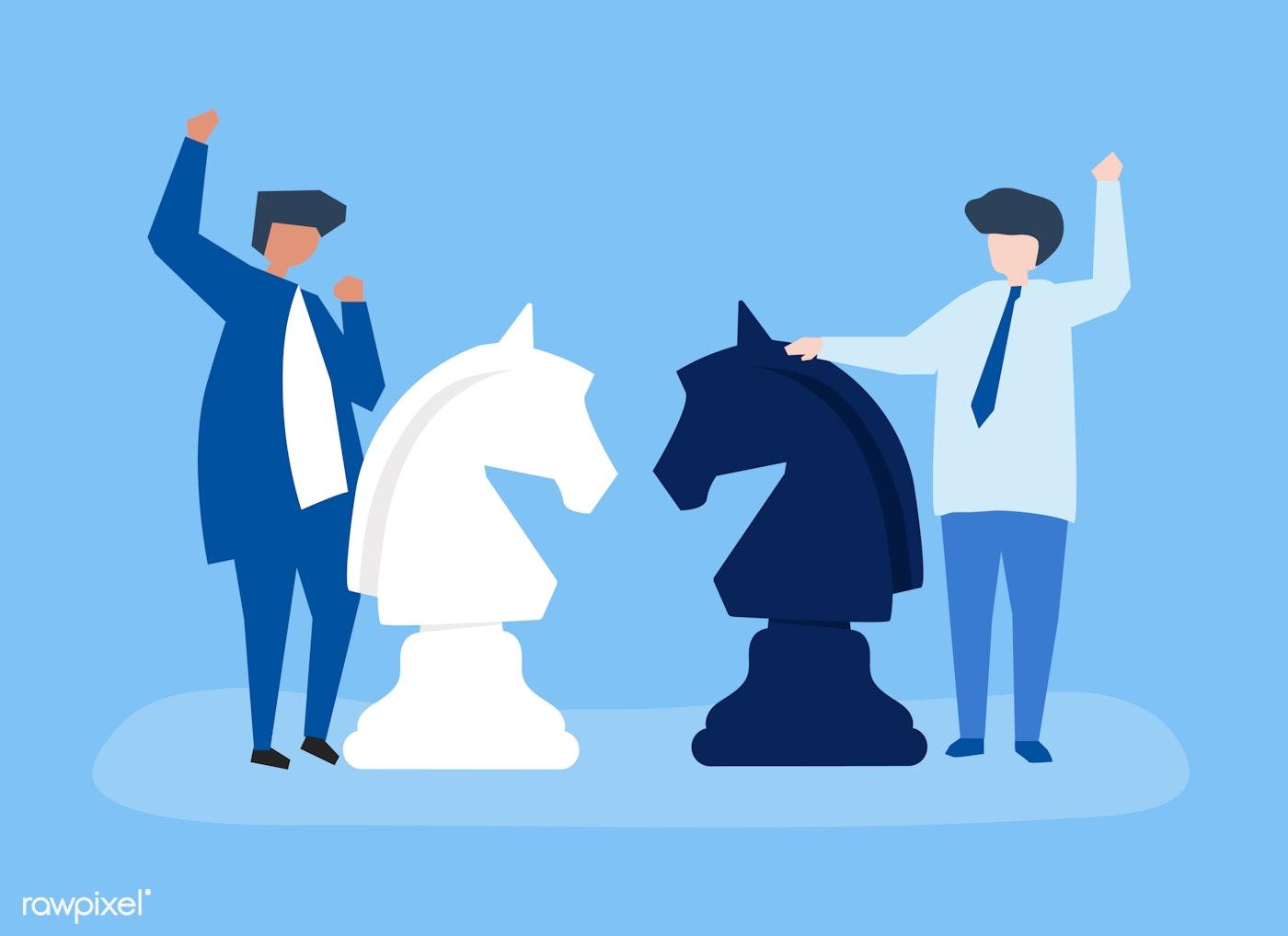 Knight horse chess piece icon | Free stock illustration - 457663