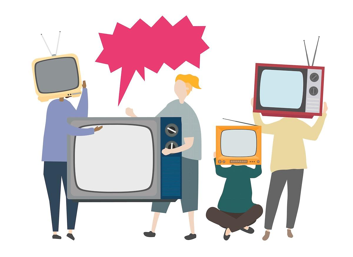 Classic retro television concept illustration