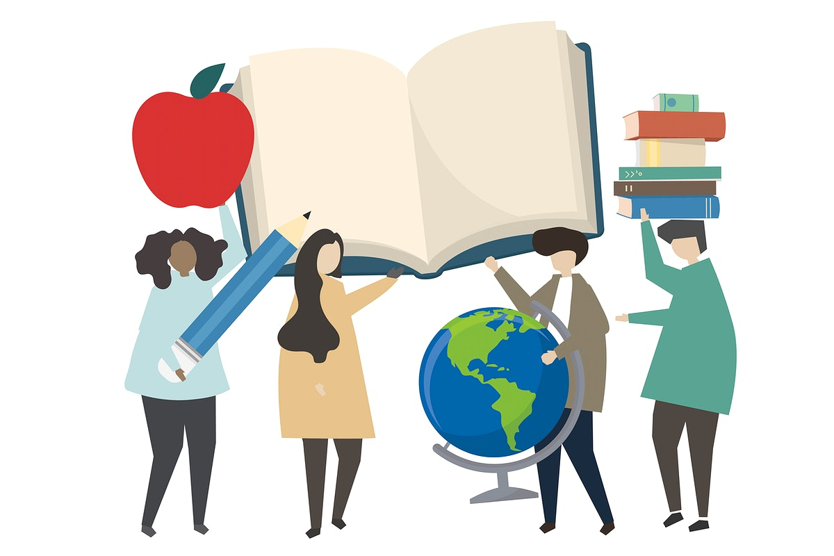 People and education concept illustration