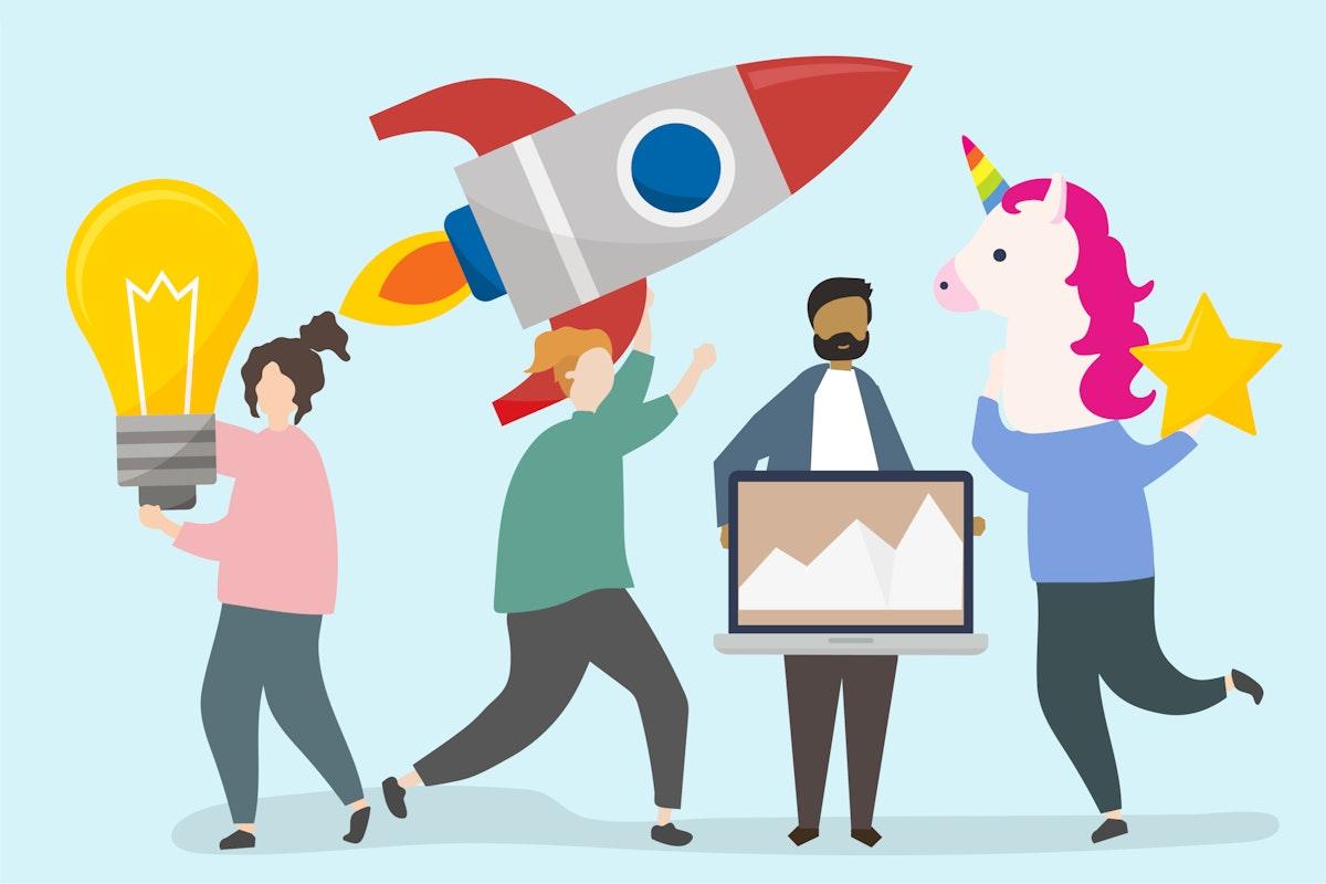 Business innovation idea concept illustration