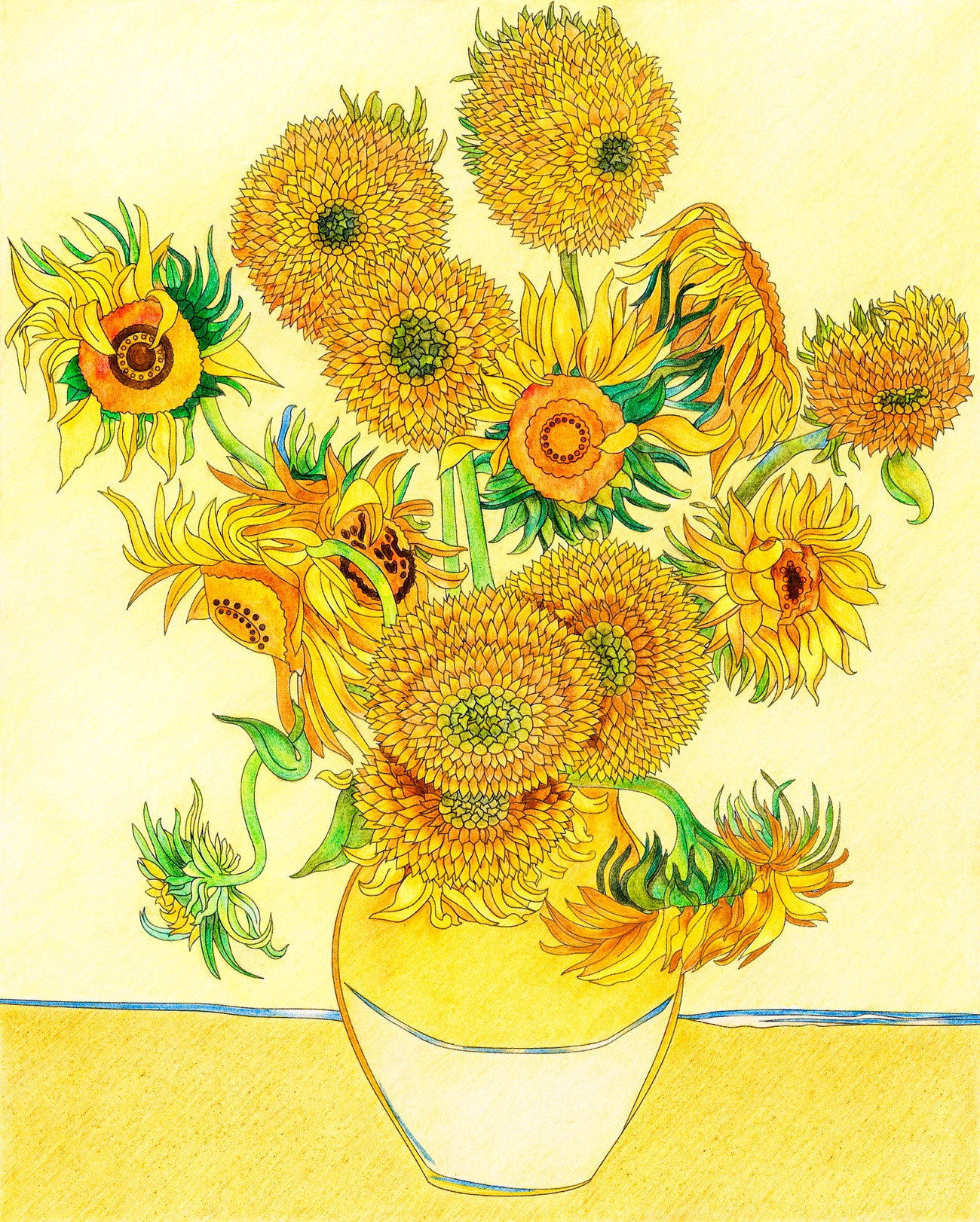 Sunflower Coloring Pages Pictures - Whitesbelfast | 1622x1300