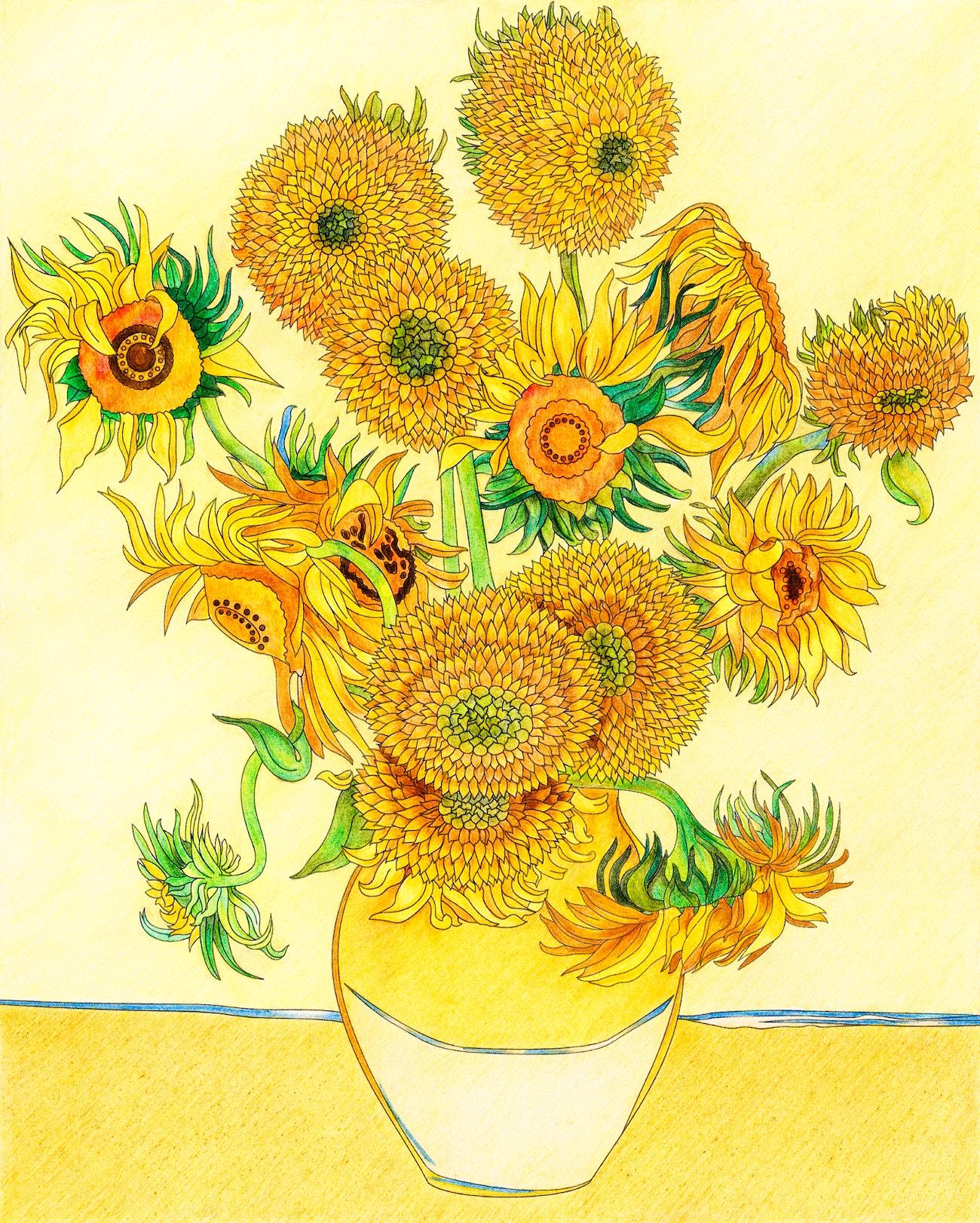 Van Gogh Colouring Pages - Van Gogh Museum | 1622x1300