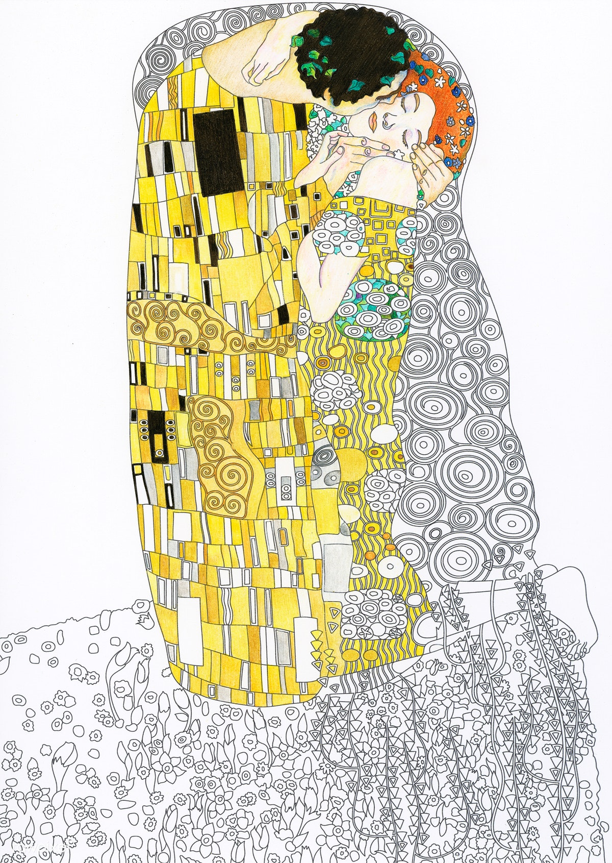 The Kiss Painting By Gustav Klimt Adult Col Free Stock