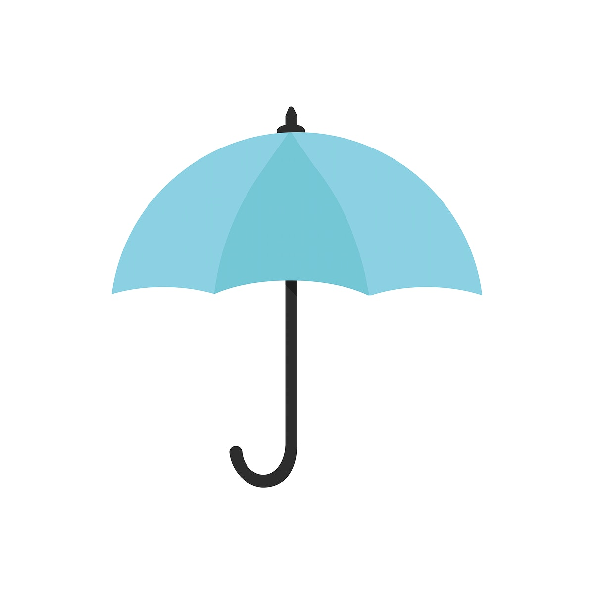 Blue umbrella icon isolated graphic illustration
