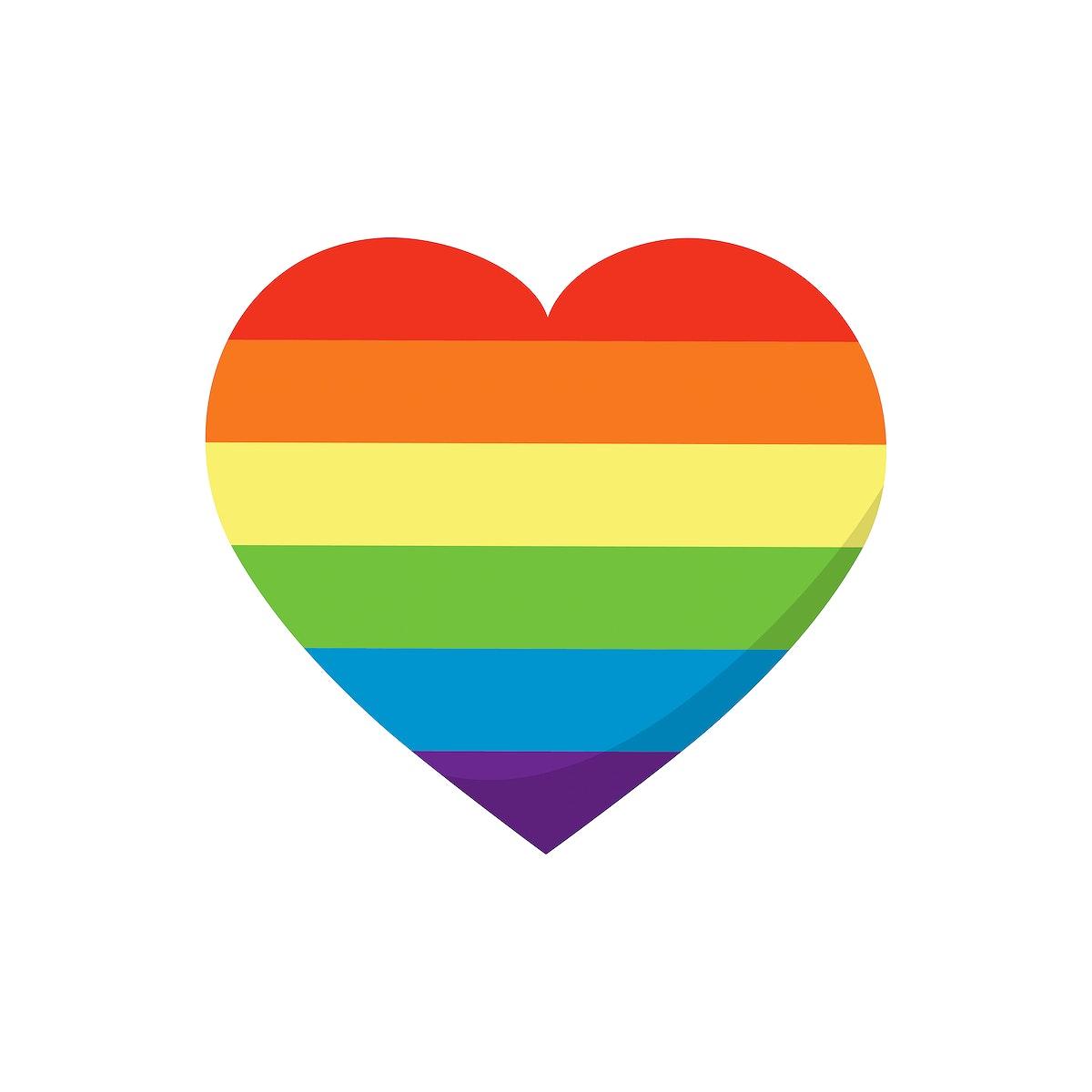 LGBT symbol in heart shape graphic illustration