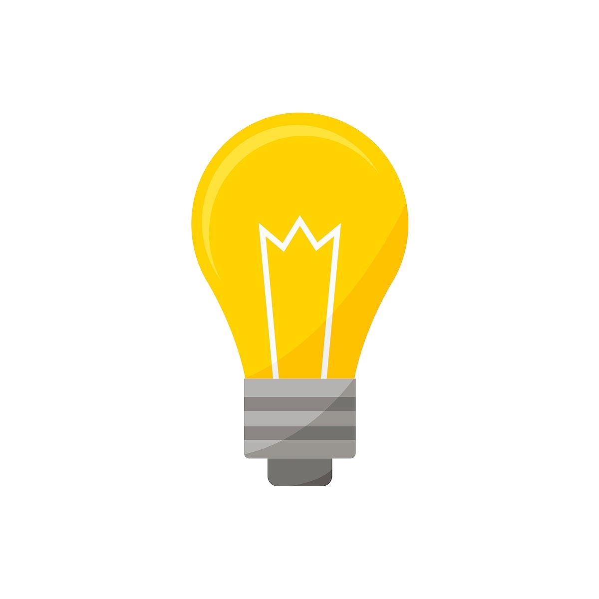 Light bulb icon graphic illustration