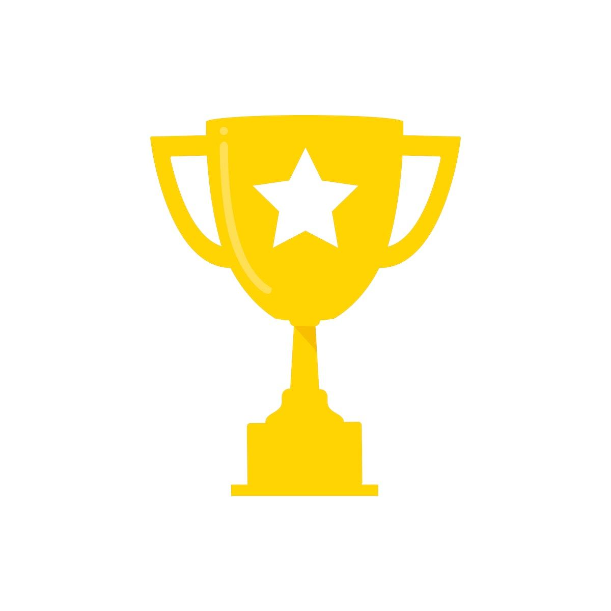 Golden champion cup graphic illustration