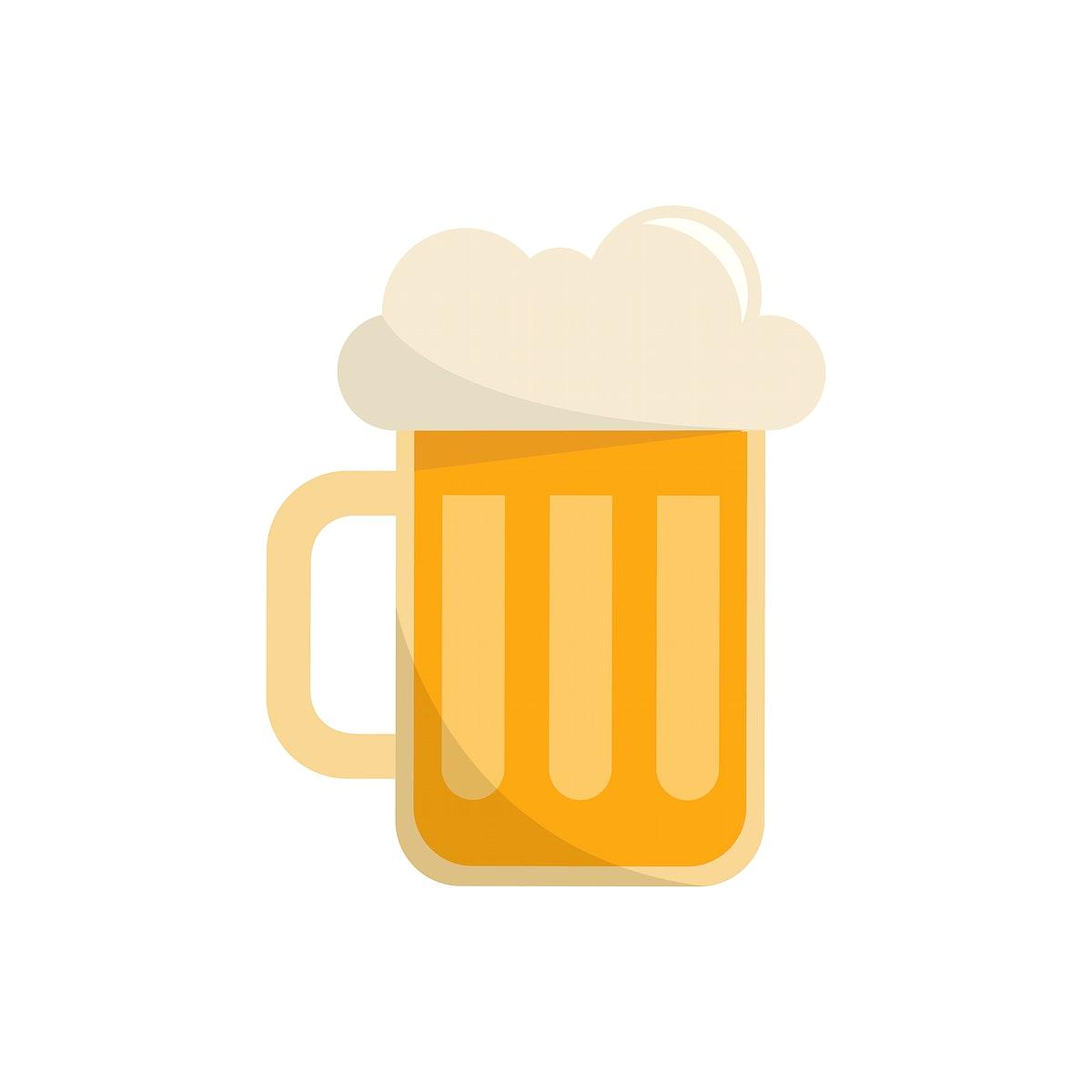 Beer mug isolated graphic illustration