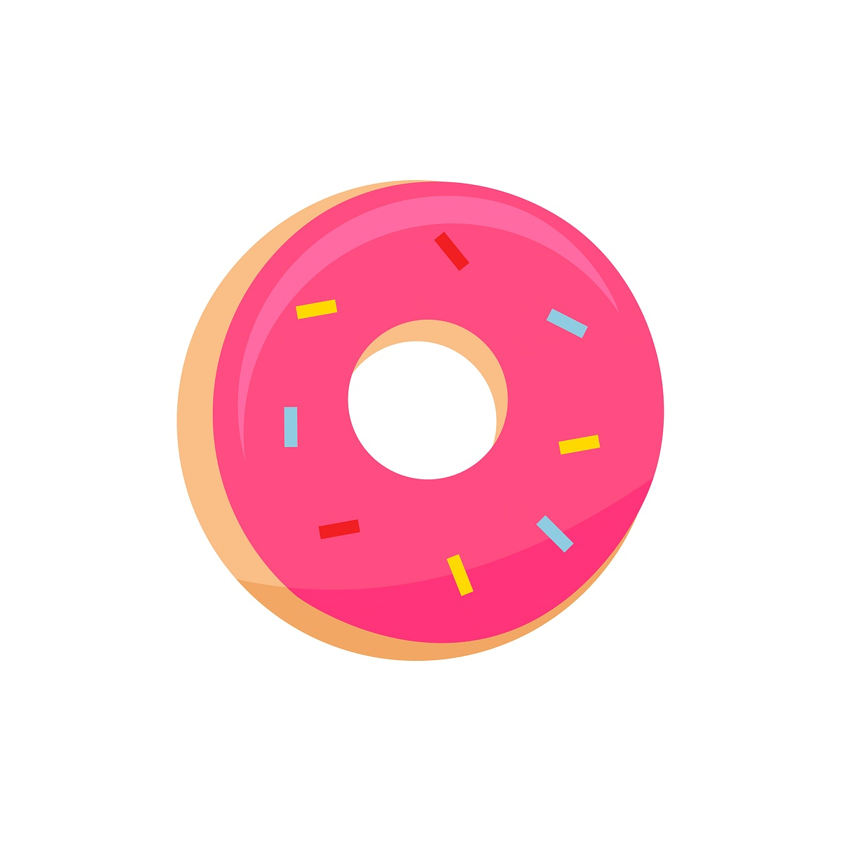 Pink doughnut icon graphic illustration