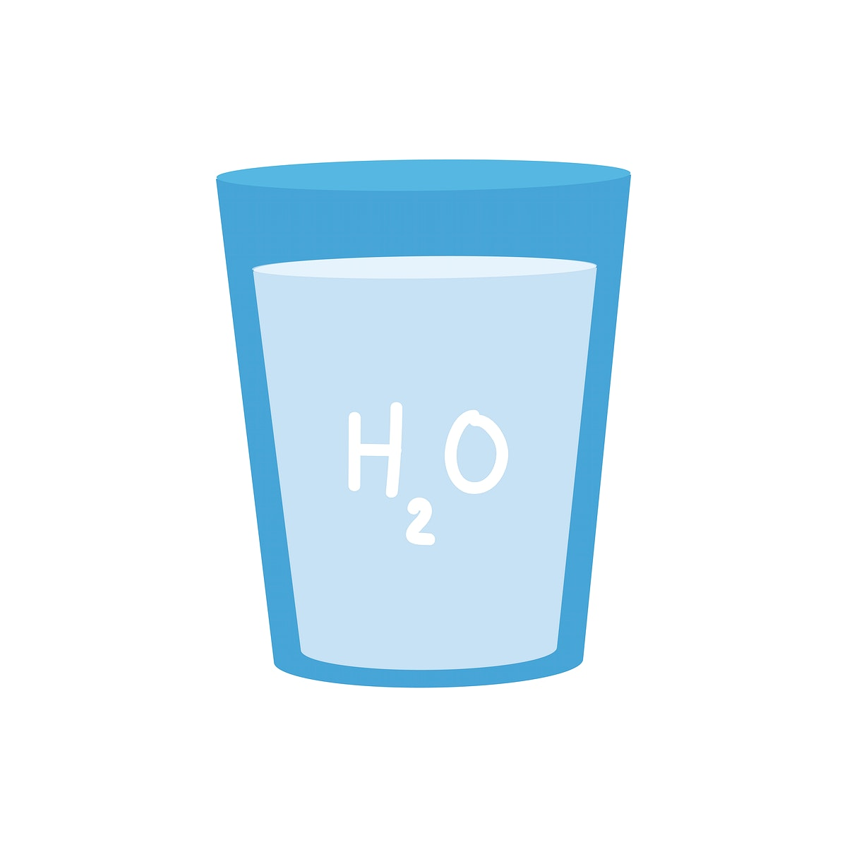 Pure water with H2O  graphic illustration