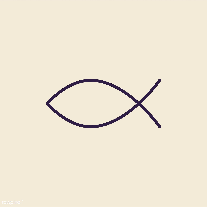 Illustration Of The Christian Fish Symbol Id 412473
