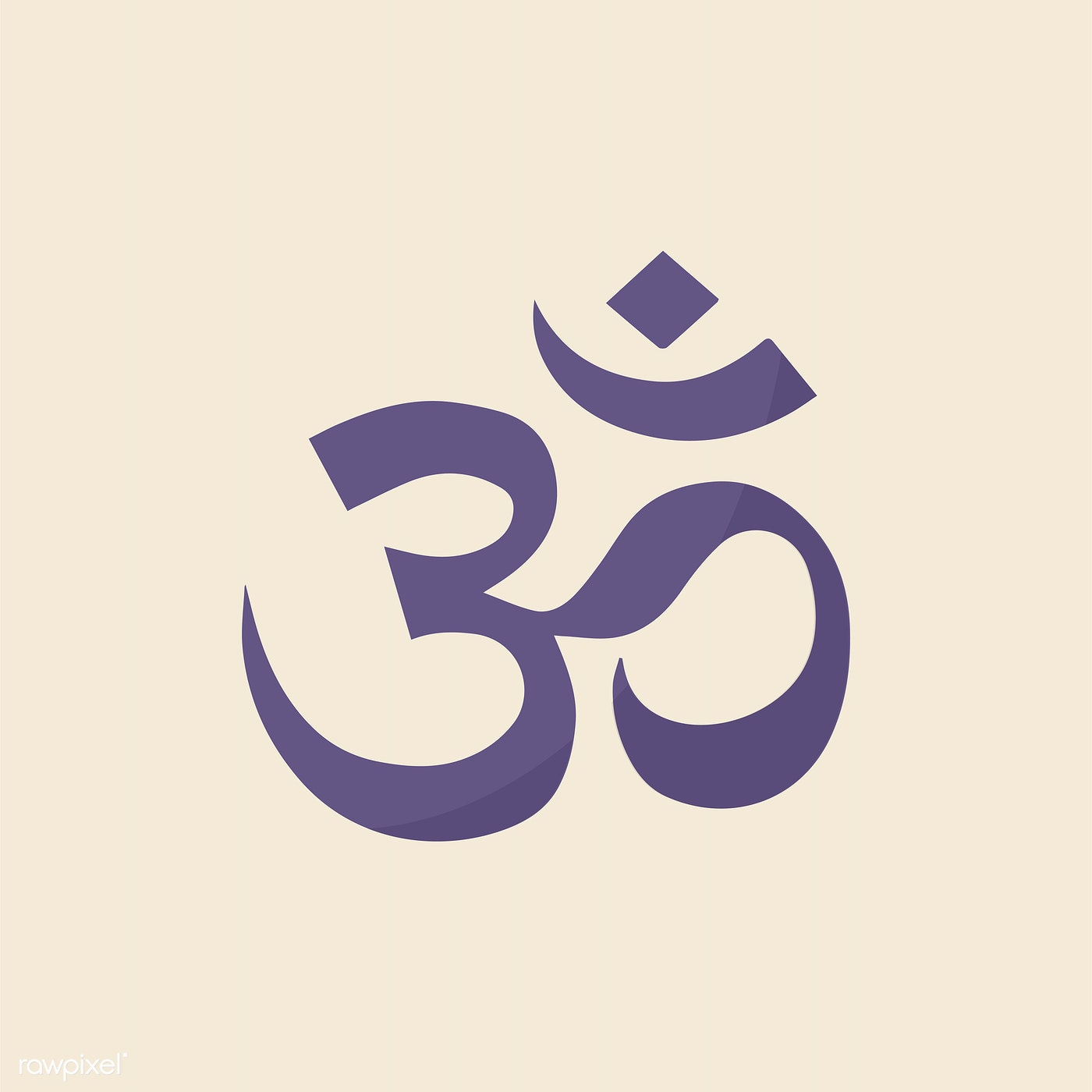 Illustraition Of The Indian Om Symbol By Ningzk V Id 412529