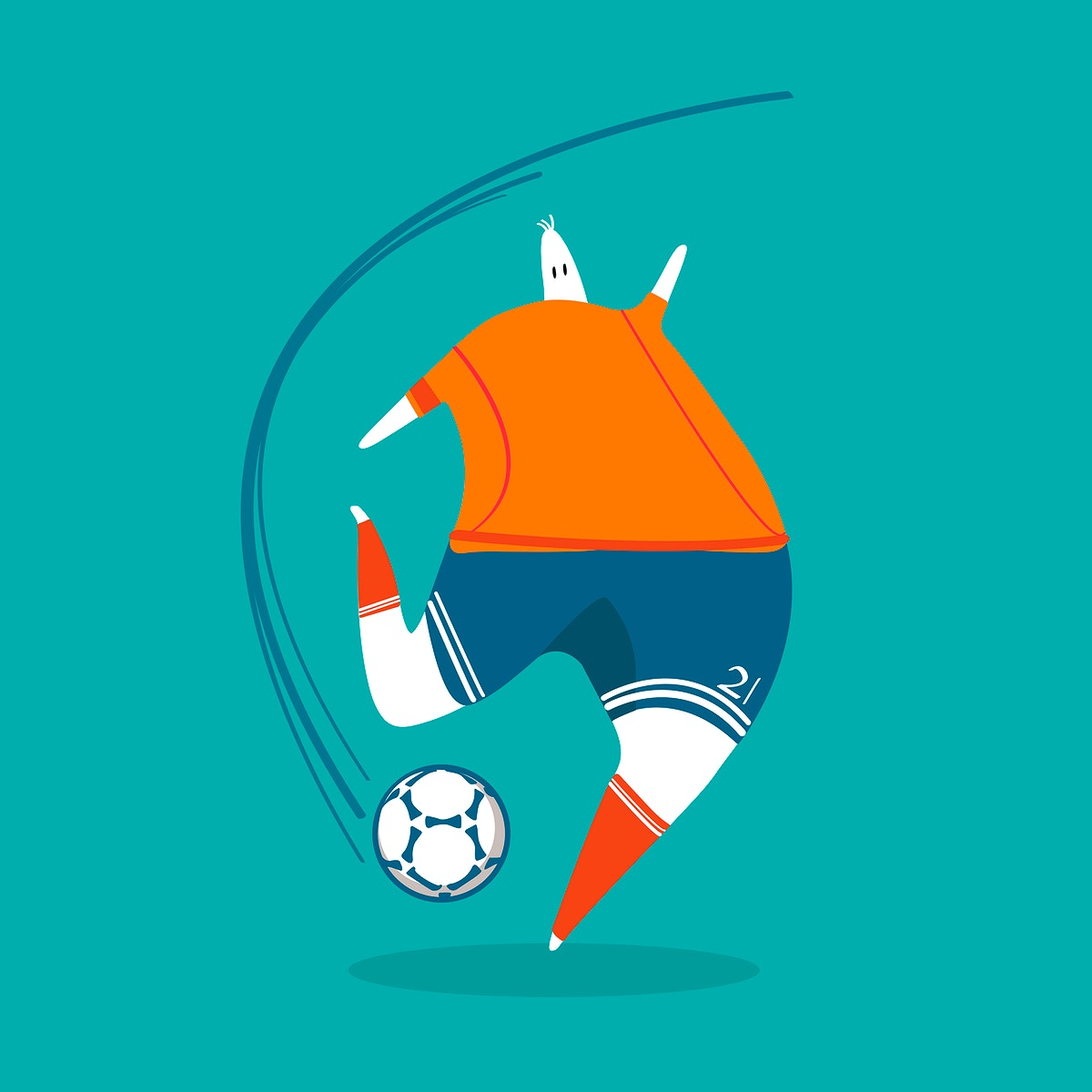 Character illustration of a soccer player