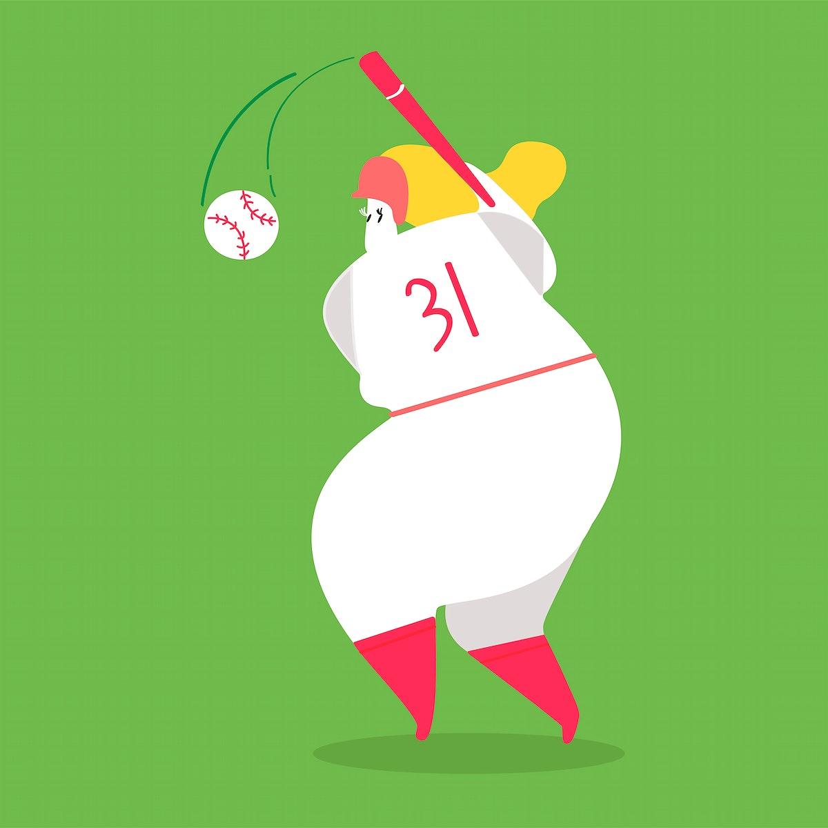 Character illustration of a baseball player