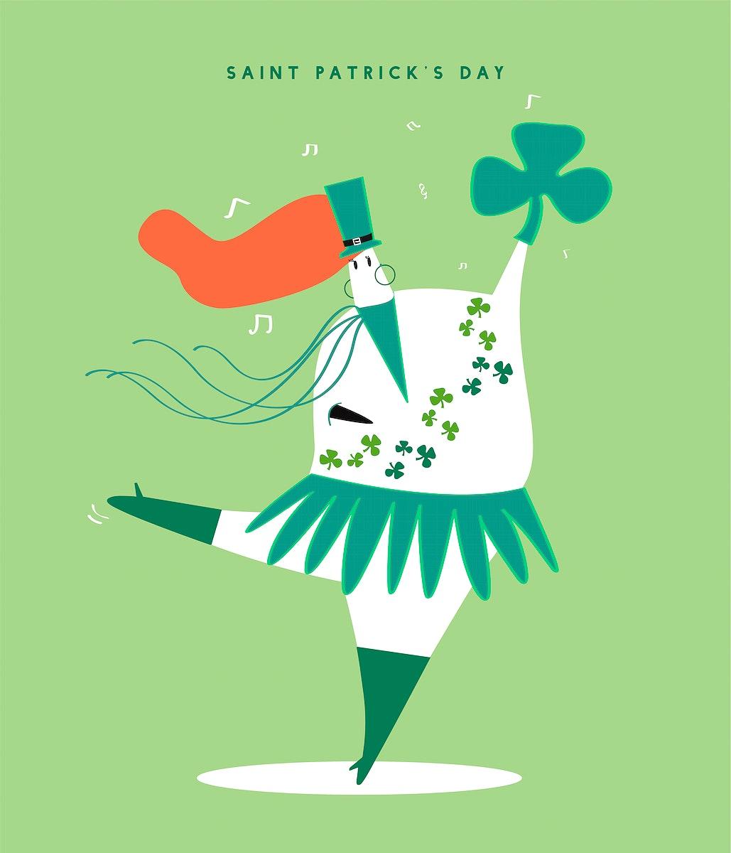 Saint Patrick's day concept illustration
