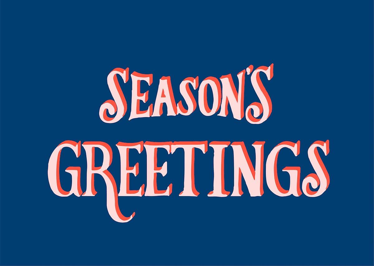 Seasons Greetings typography illustration
