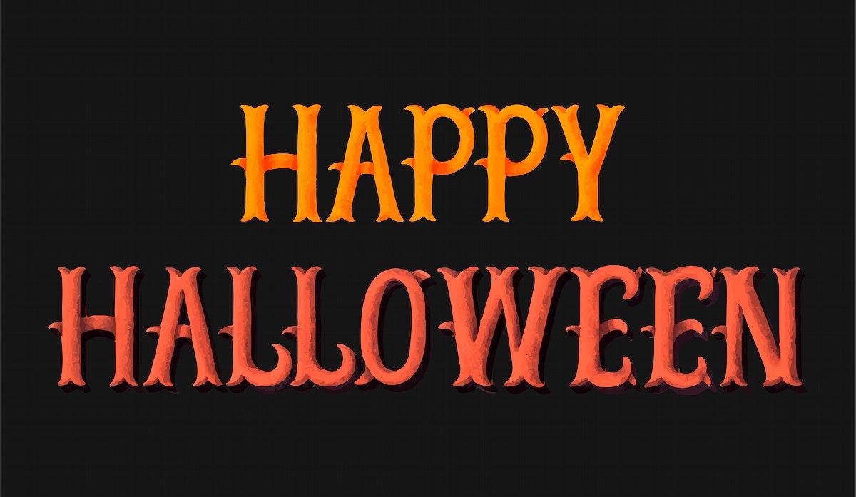 Happy Halloween typography illustration