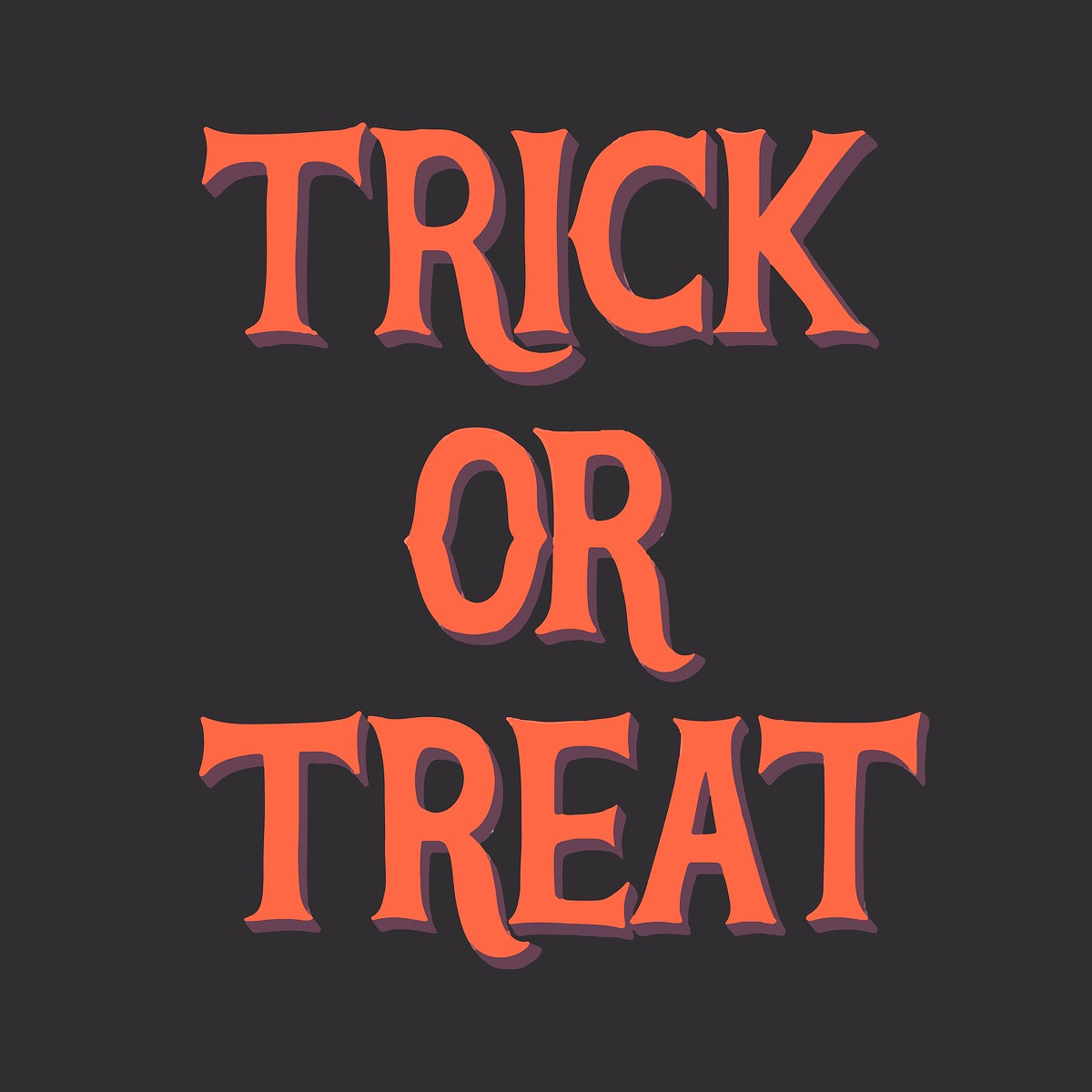 Trick or treat Halloween graphic
