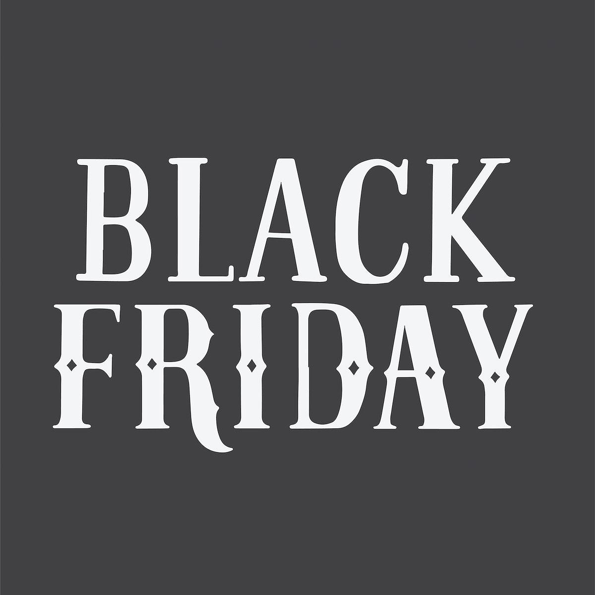 Handwritten style of Black Friday typography
