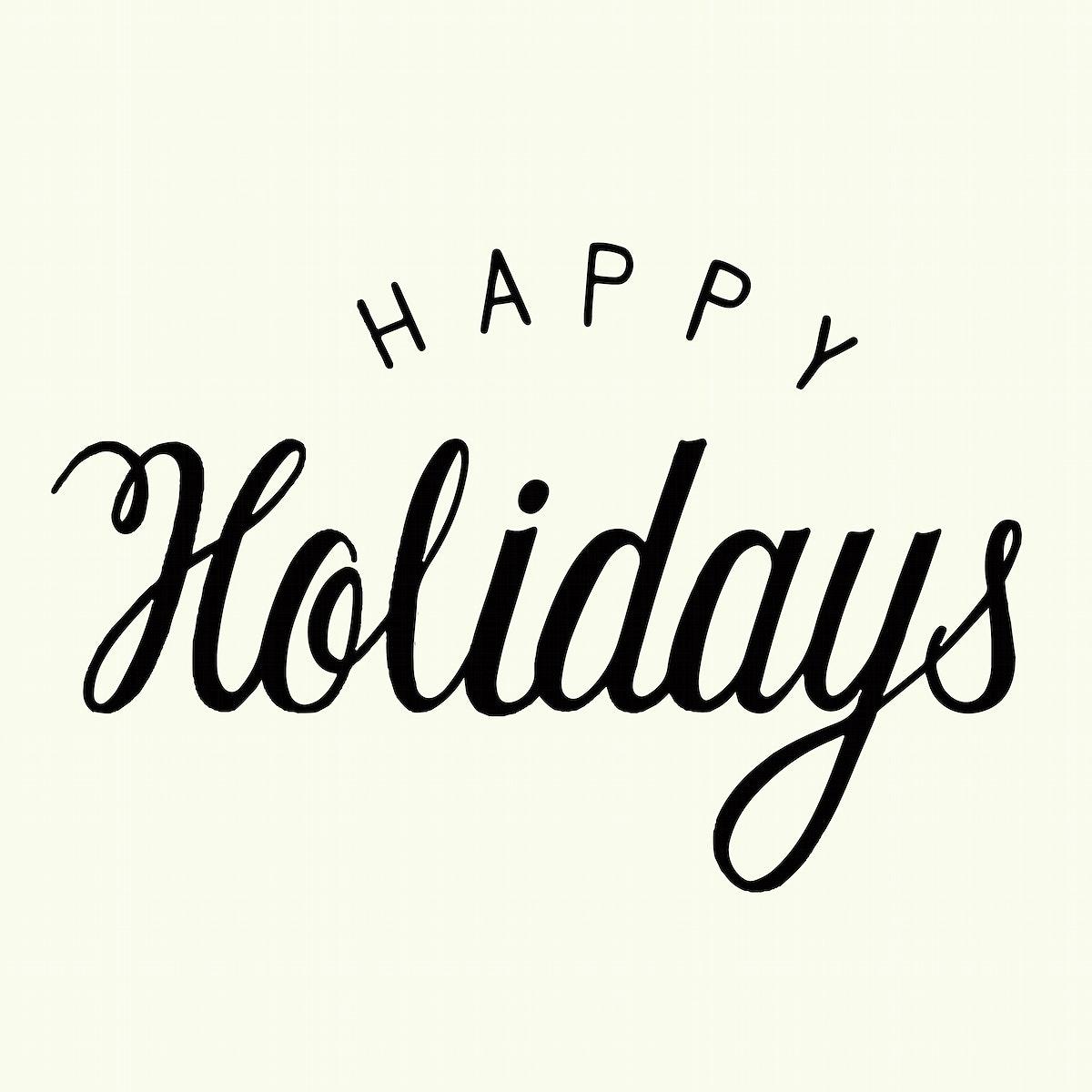 Handwritten style Happy Holidays typography