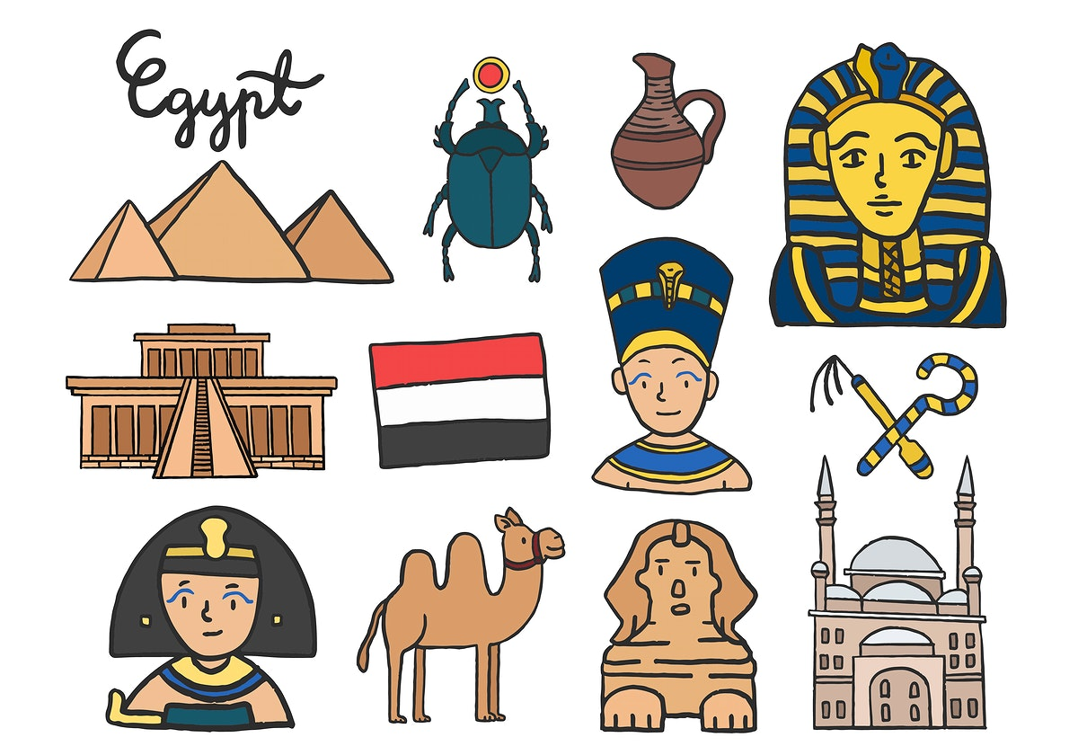 Set of ancient Egyptian symbols
