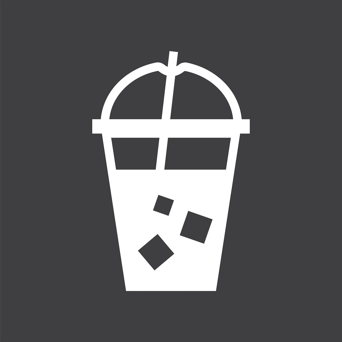 Cold drink in a plastic cup illustration