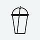 Empty plastic cup icon illustration