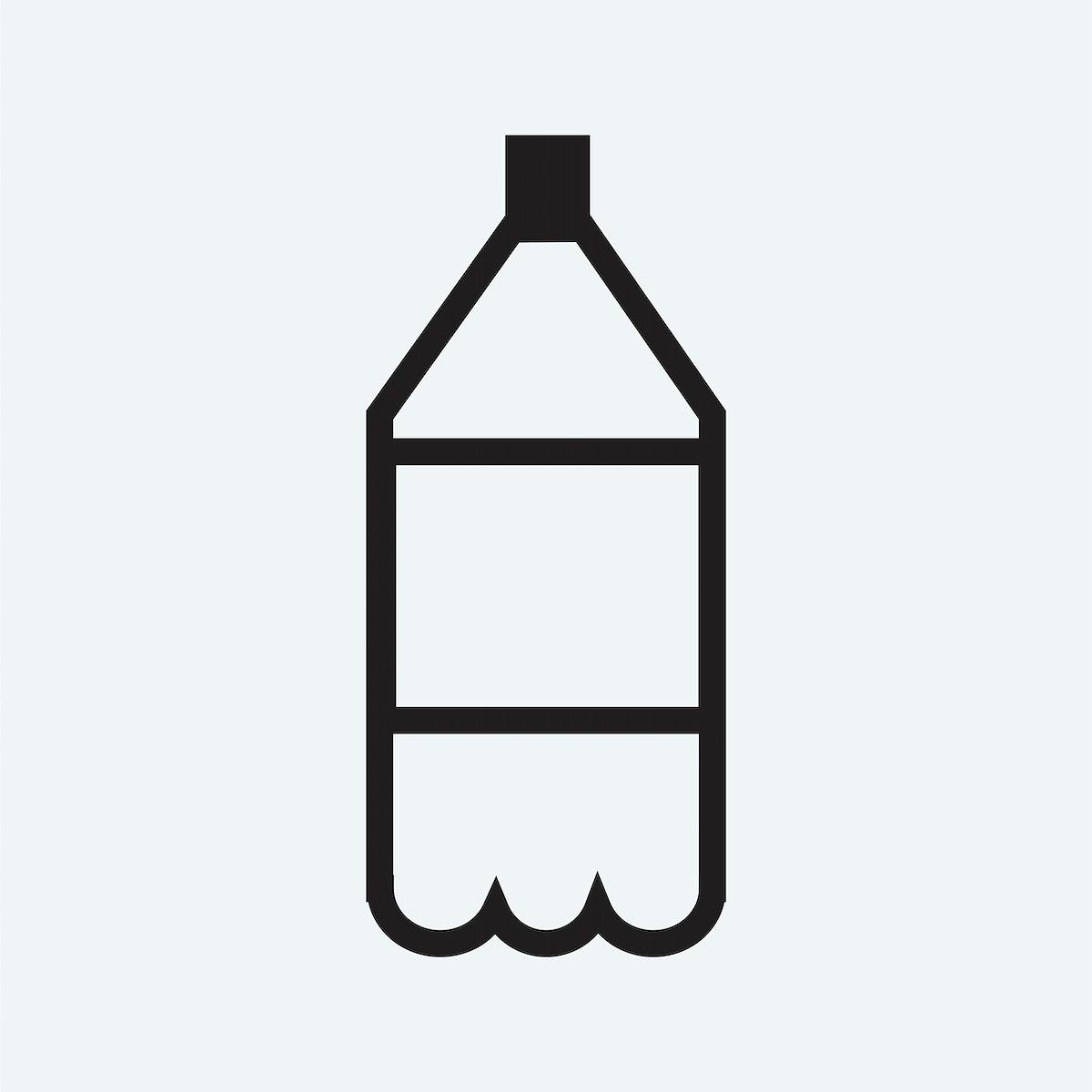 Soft drink plastic bottle icon illustration