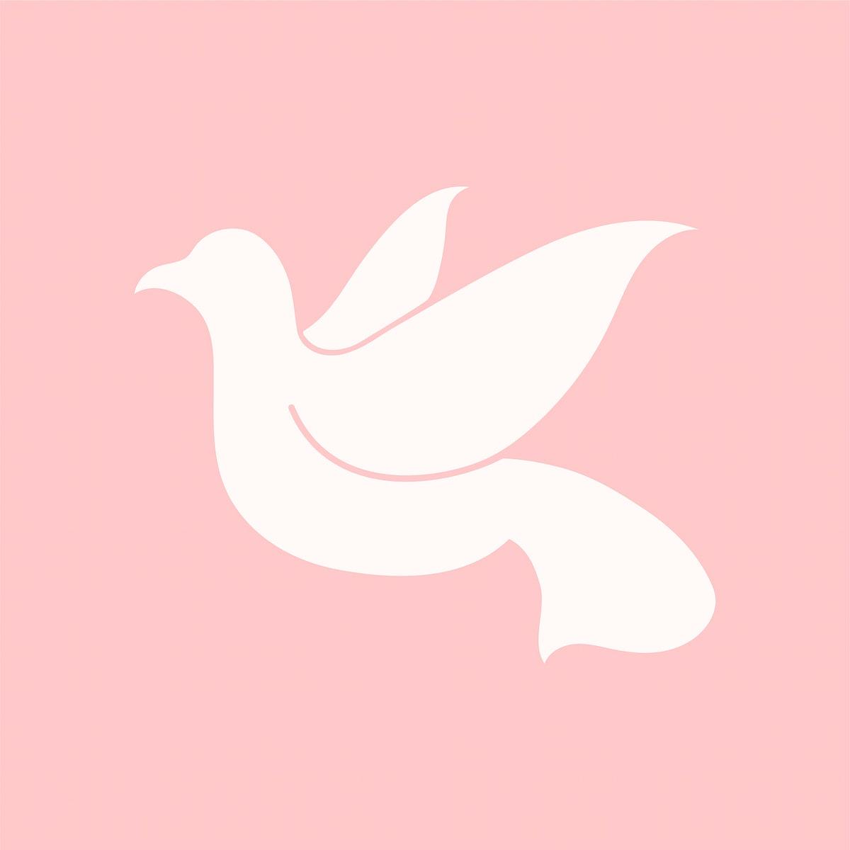 Dove symbol of peace illustration