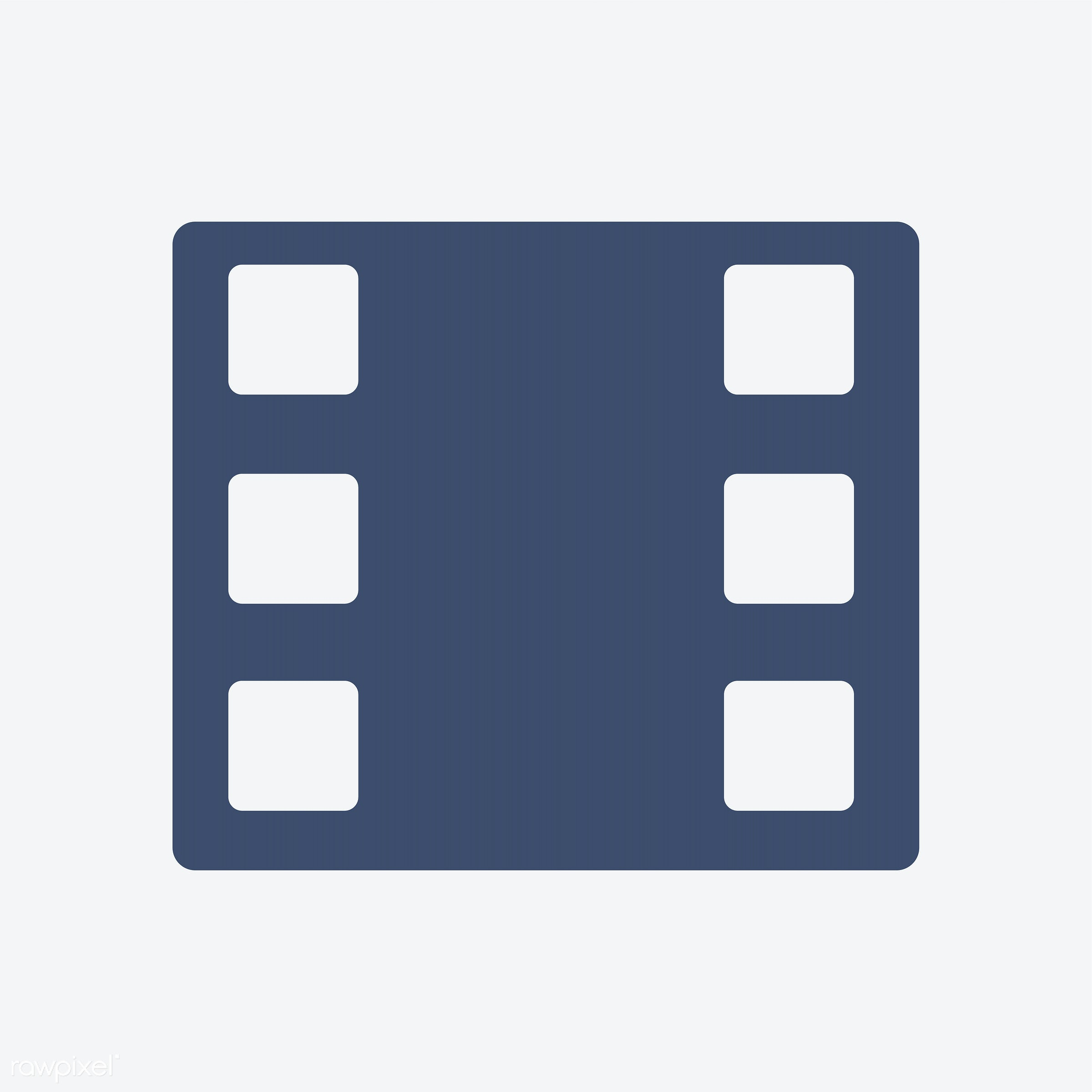 Classical filmstrip isolated on background - 35mm, art, blank, blue, camera, cinema, cinematography, classical, design,...