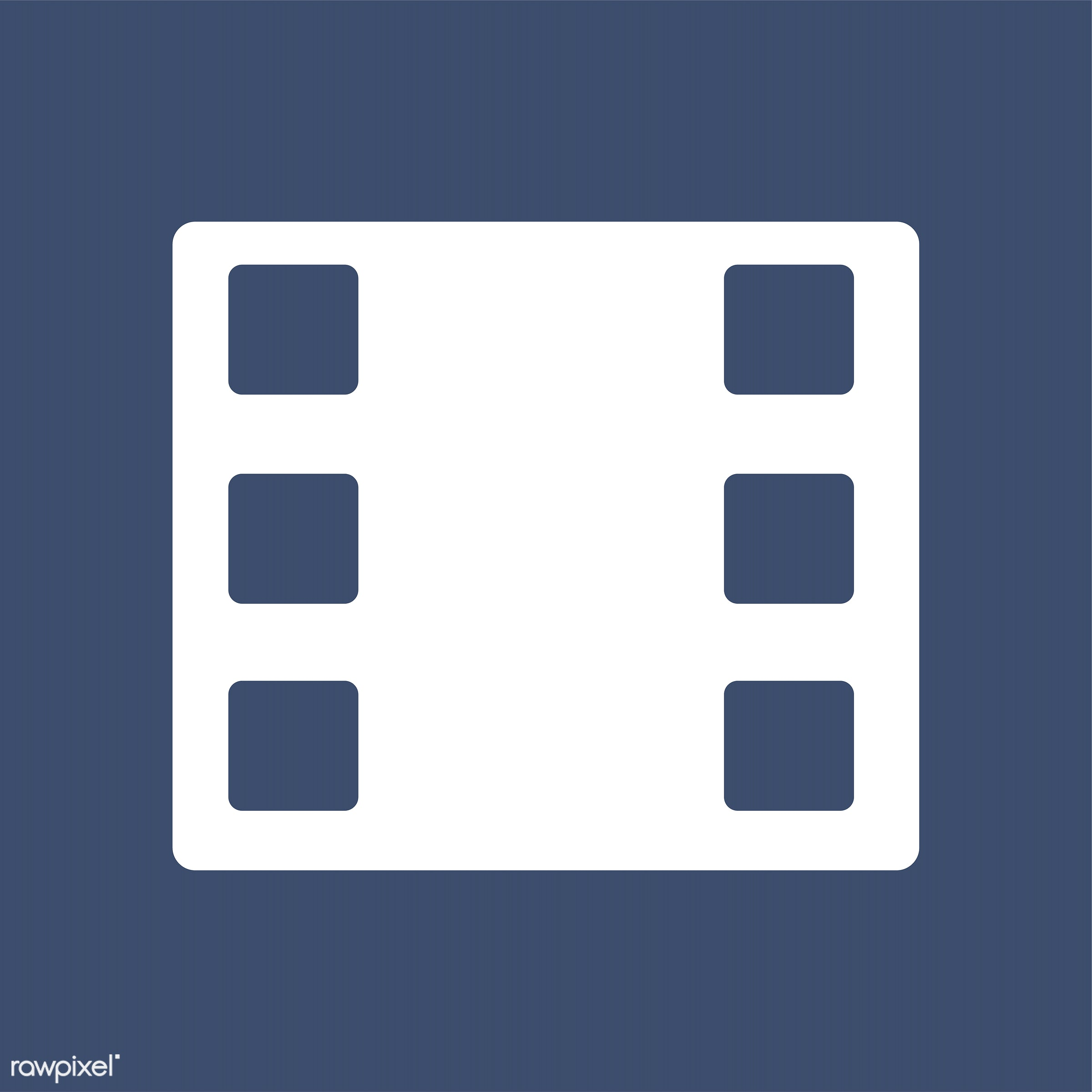 Classical filmstrip on isolated background - 35mm, art, blank, blue, blue background, camera, cinema, cinematography,...
