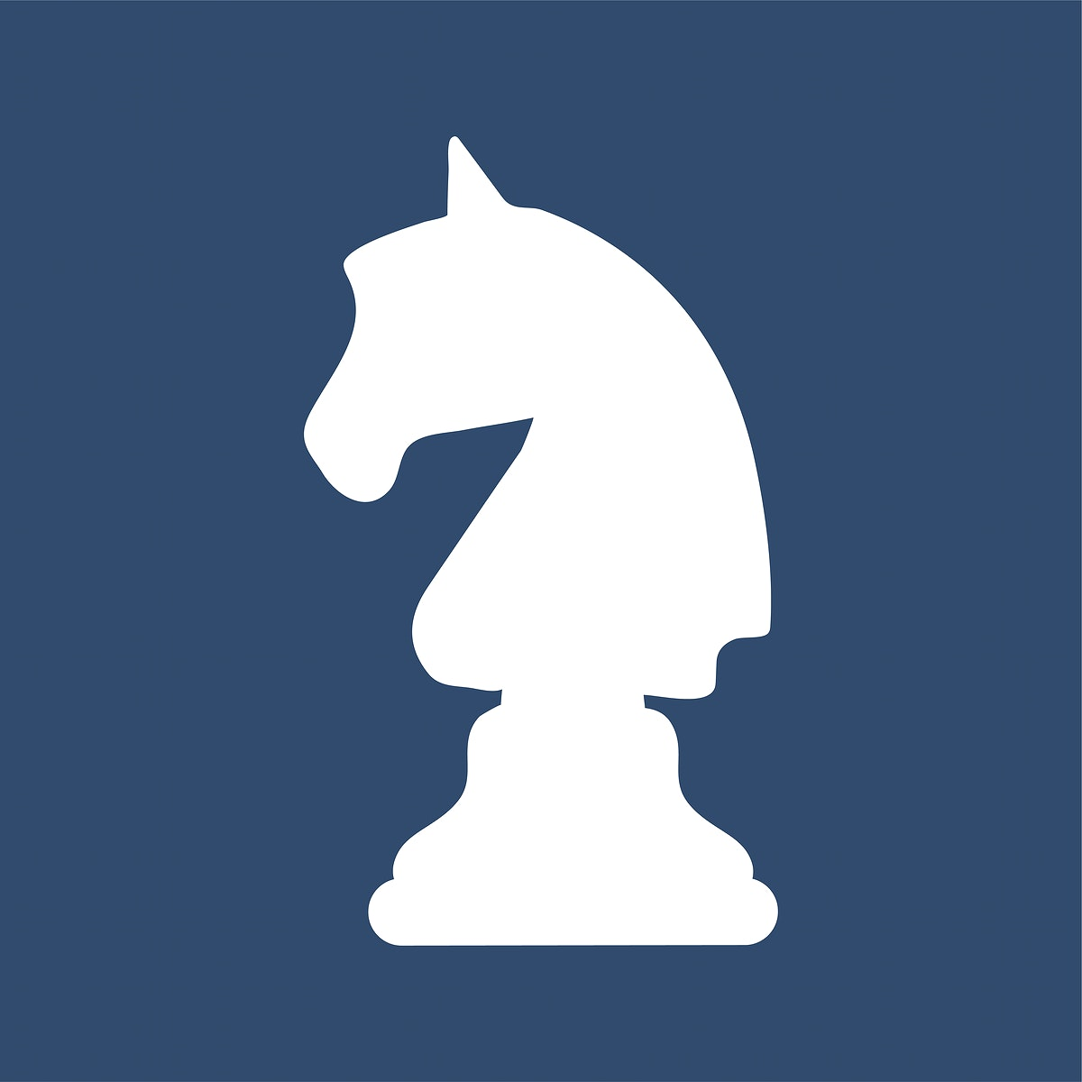 Knight horse chess piece icon