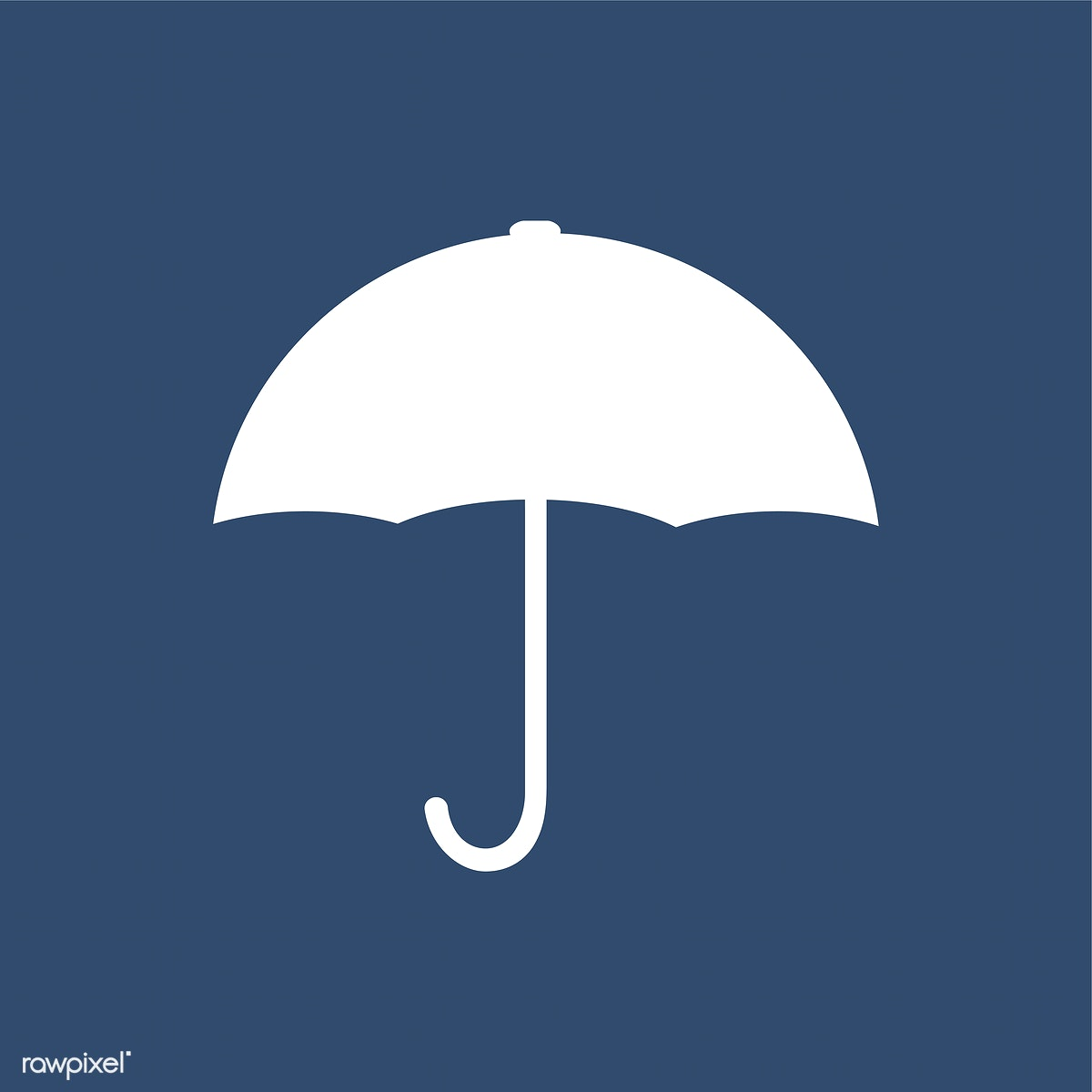 90abcb381 White umbrella sign on blue background | Free stock vector - 457651