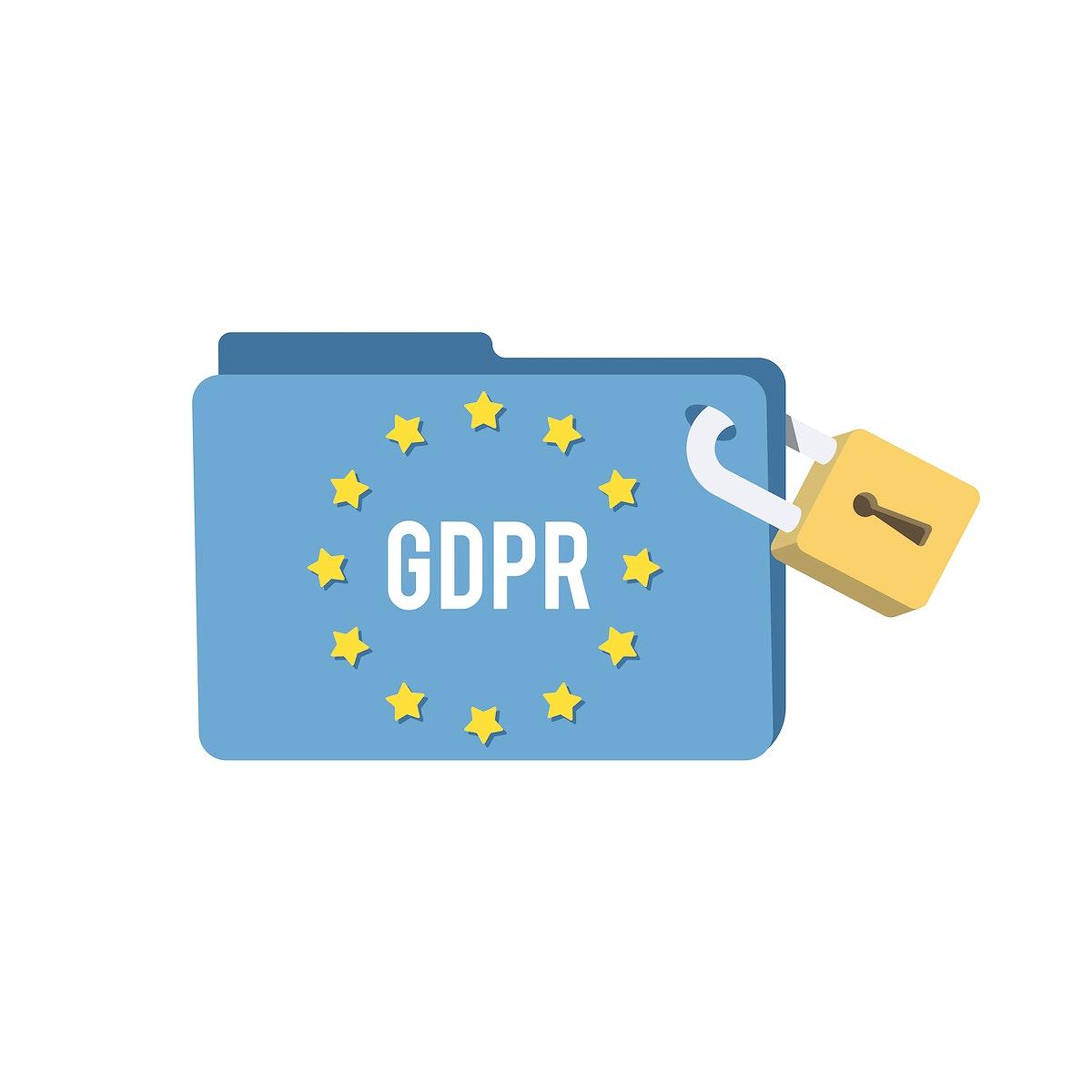 General Data Protection Regulation folder illustration