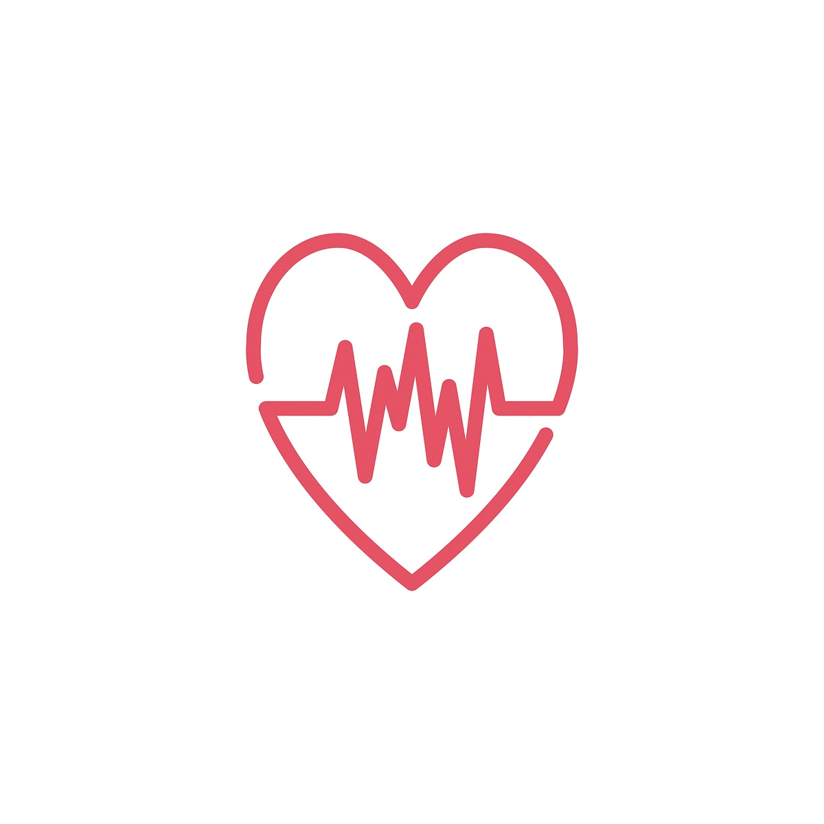 Heart rate cardiogram icon illustration