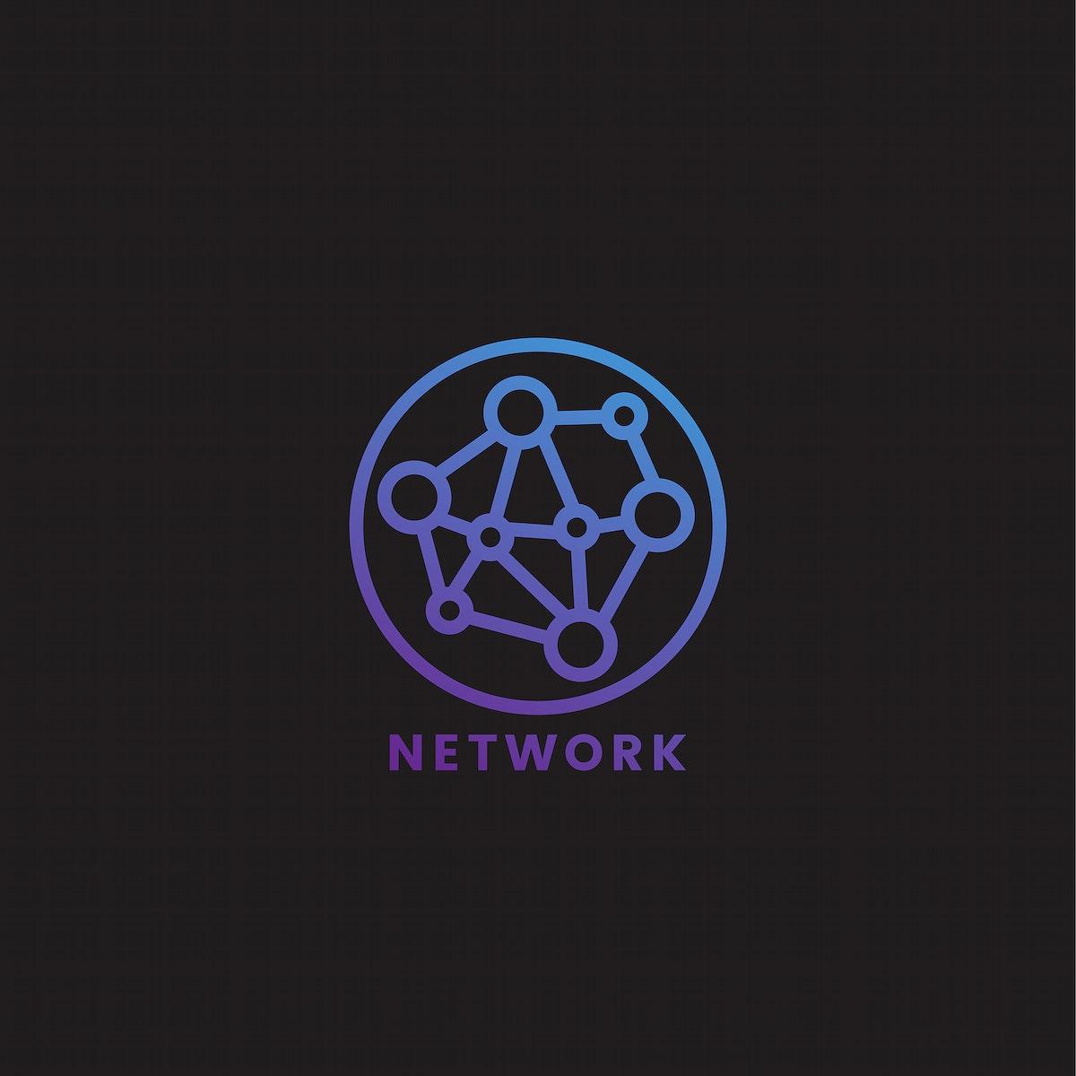 Computer network icon graphic illustration
