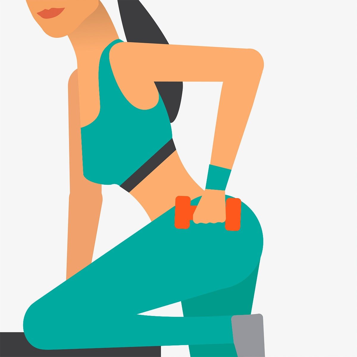 Woman working out at the gym illustration