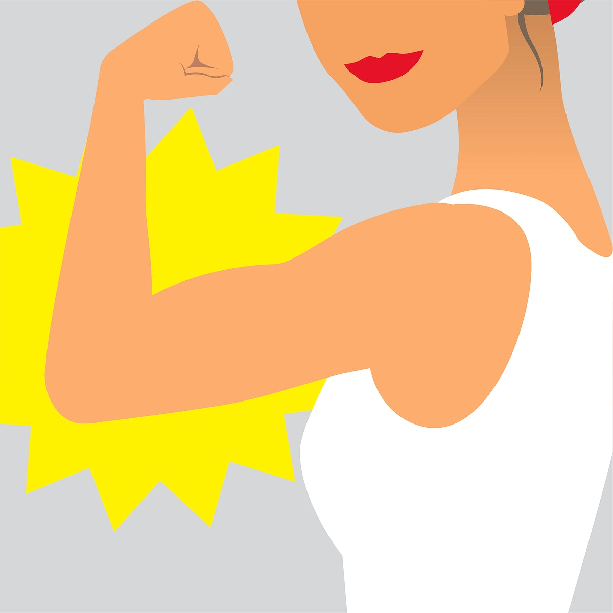 Female power and strength illustration
