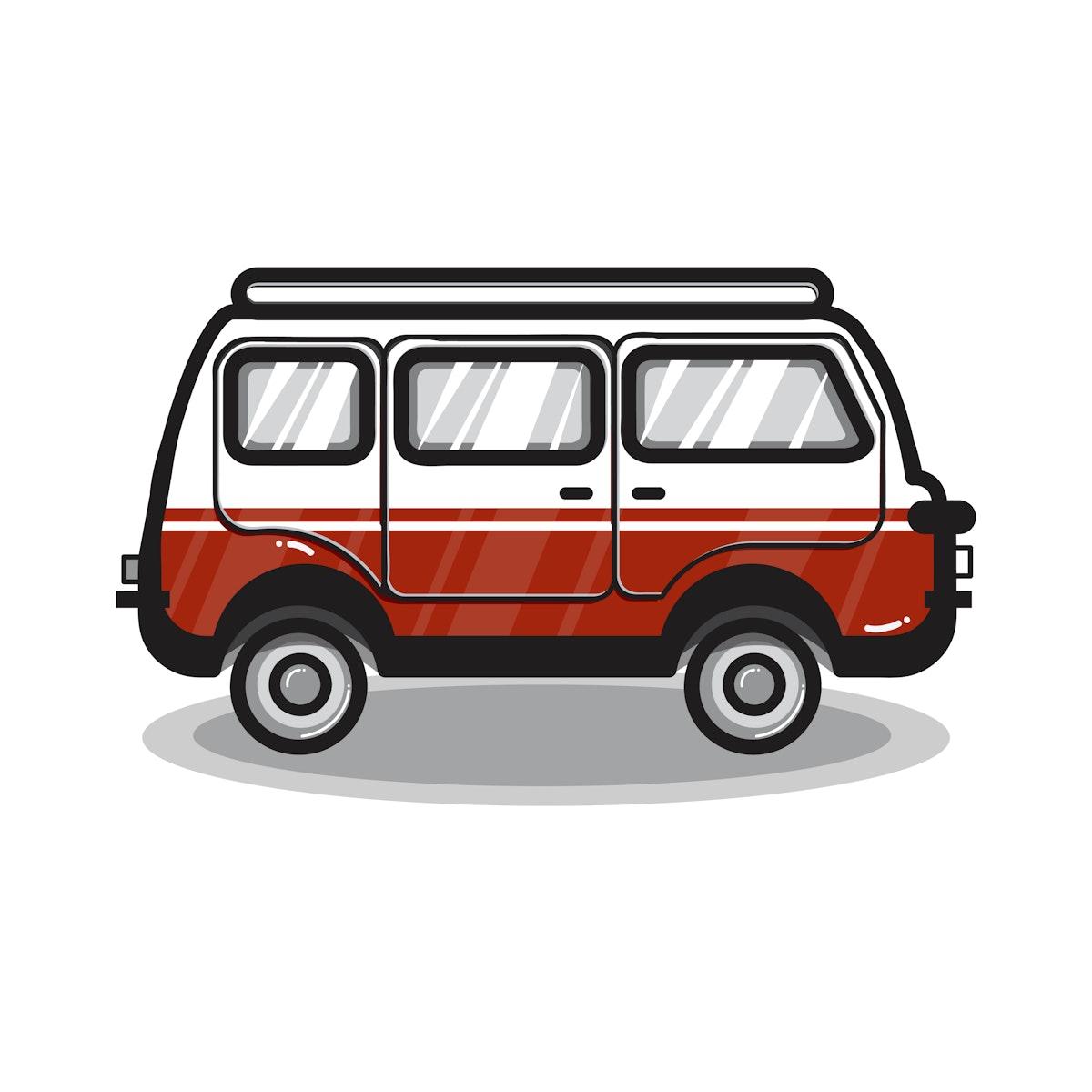 Hand drawn multi-purpose vehicle car illustration