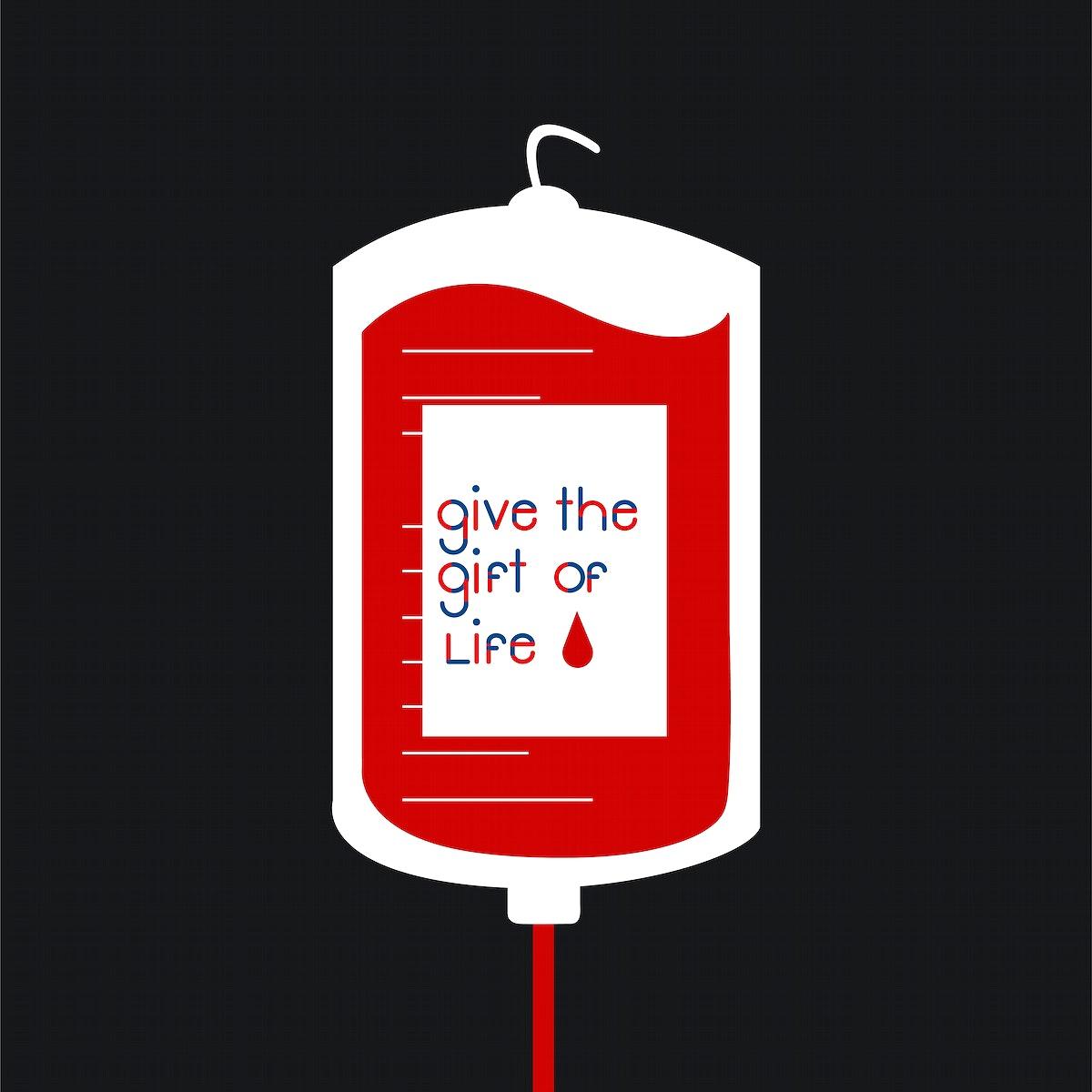 Blood donation bag vector illustration