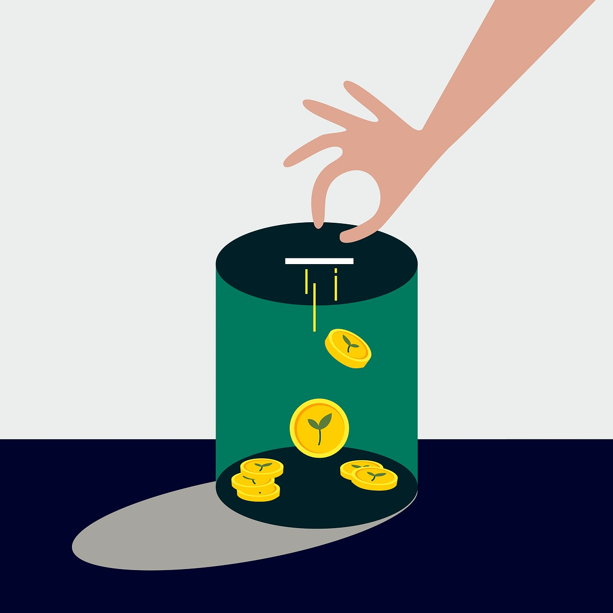 Collecting money for environmental funding illustration