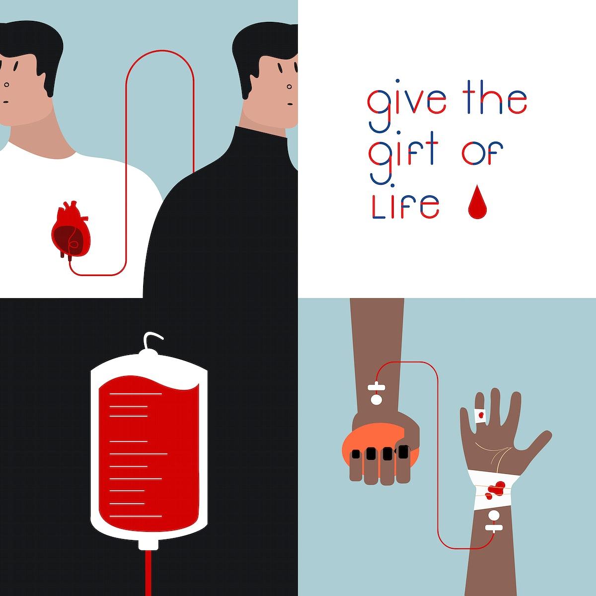 Blood donation concept vector illustration