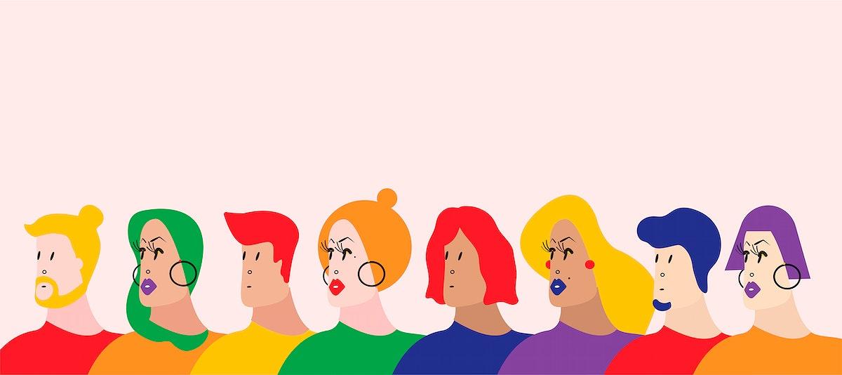 The Queer Community LGBTQ vector illustration